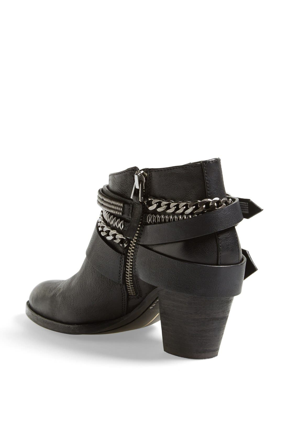 'Yazmina' Leather Bootie,                             Alternate thumbnail 2, color,                             019