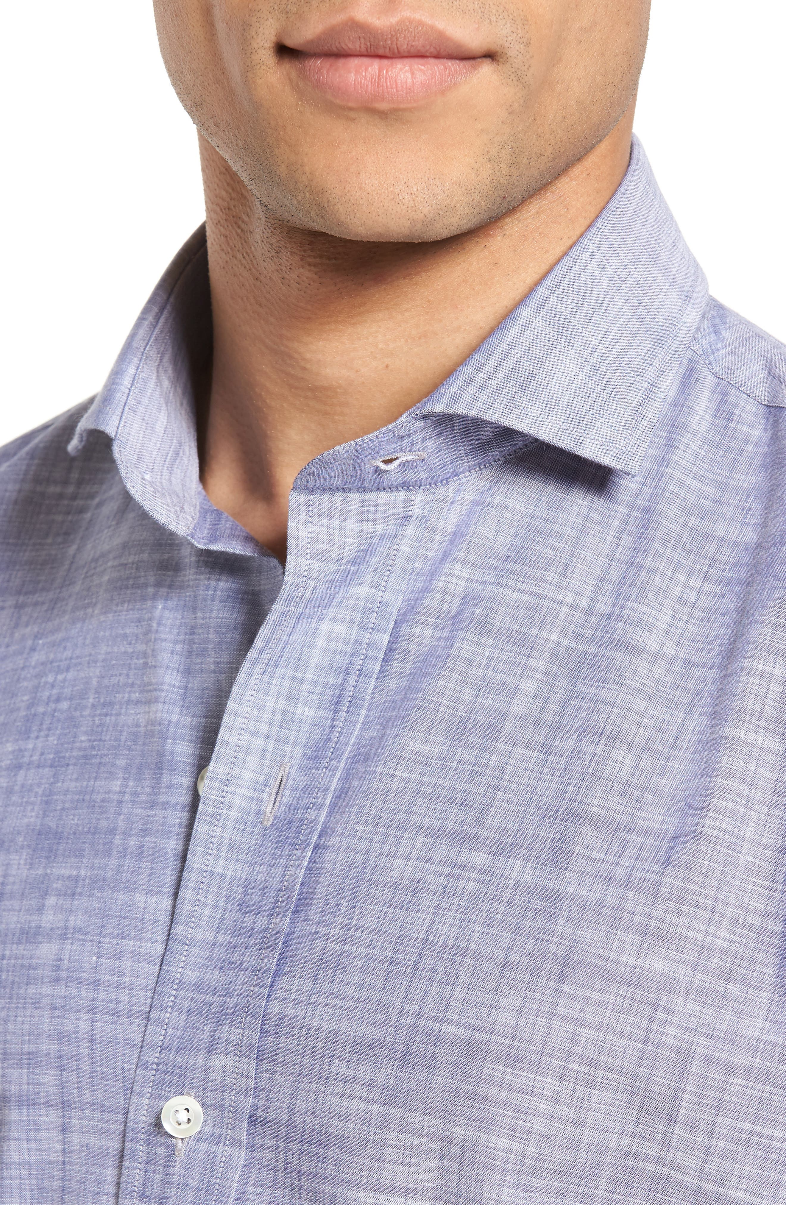 The McDaniel Classic Fit Chambray Sport Shirt,                             Alternate thumbnail 4, color,                             020