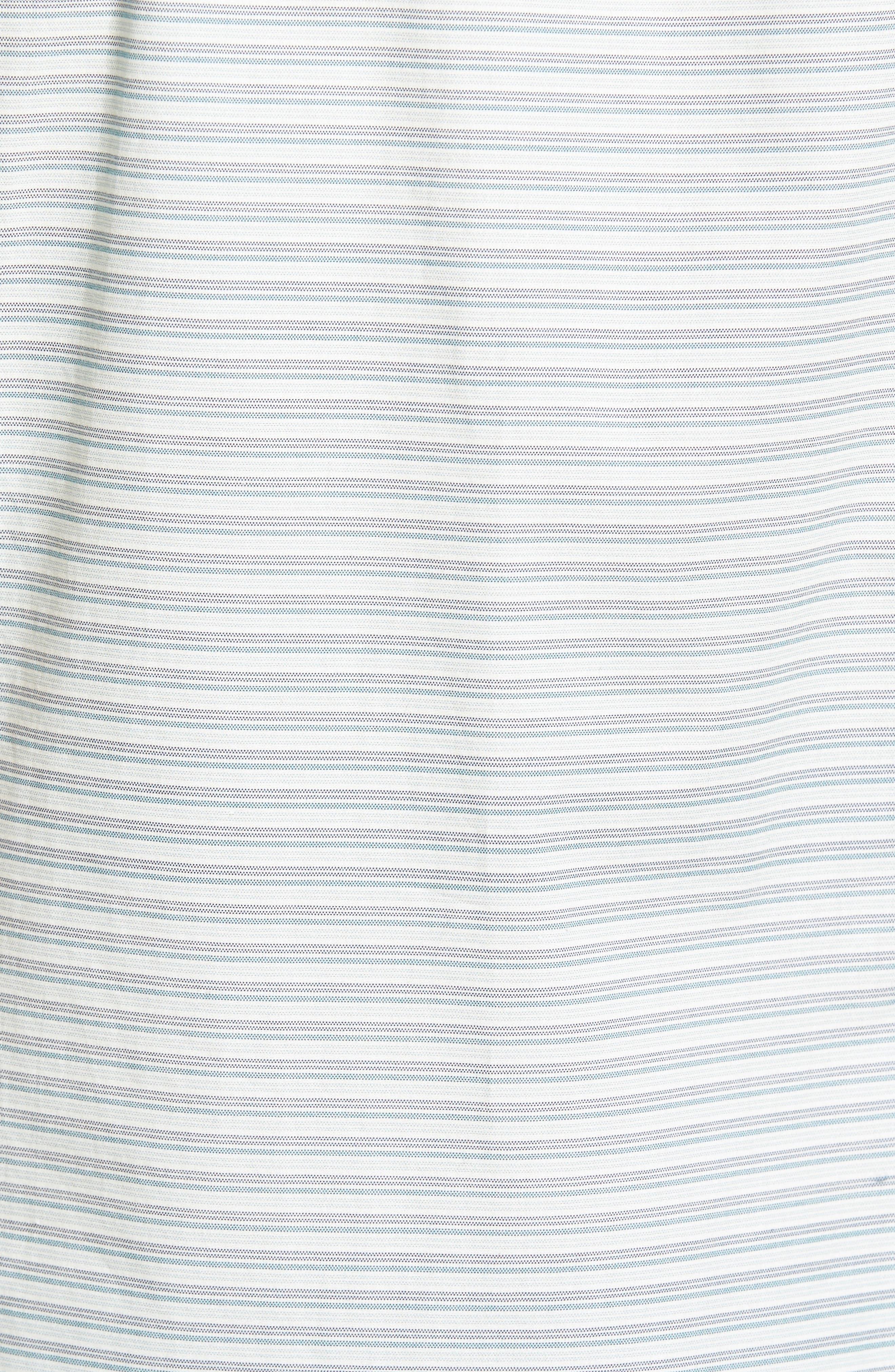 Reworked Mini Stripe Slim Fit Sport Shirt,                             Alternate thumbnail 5, color,                             104