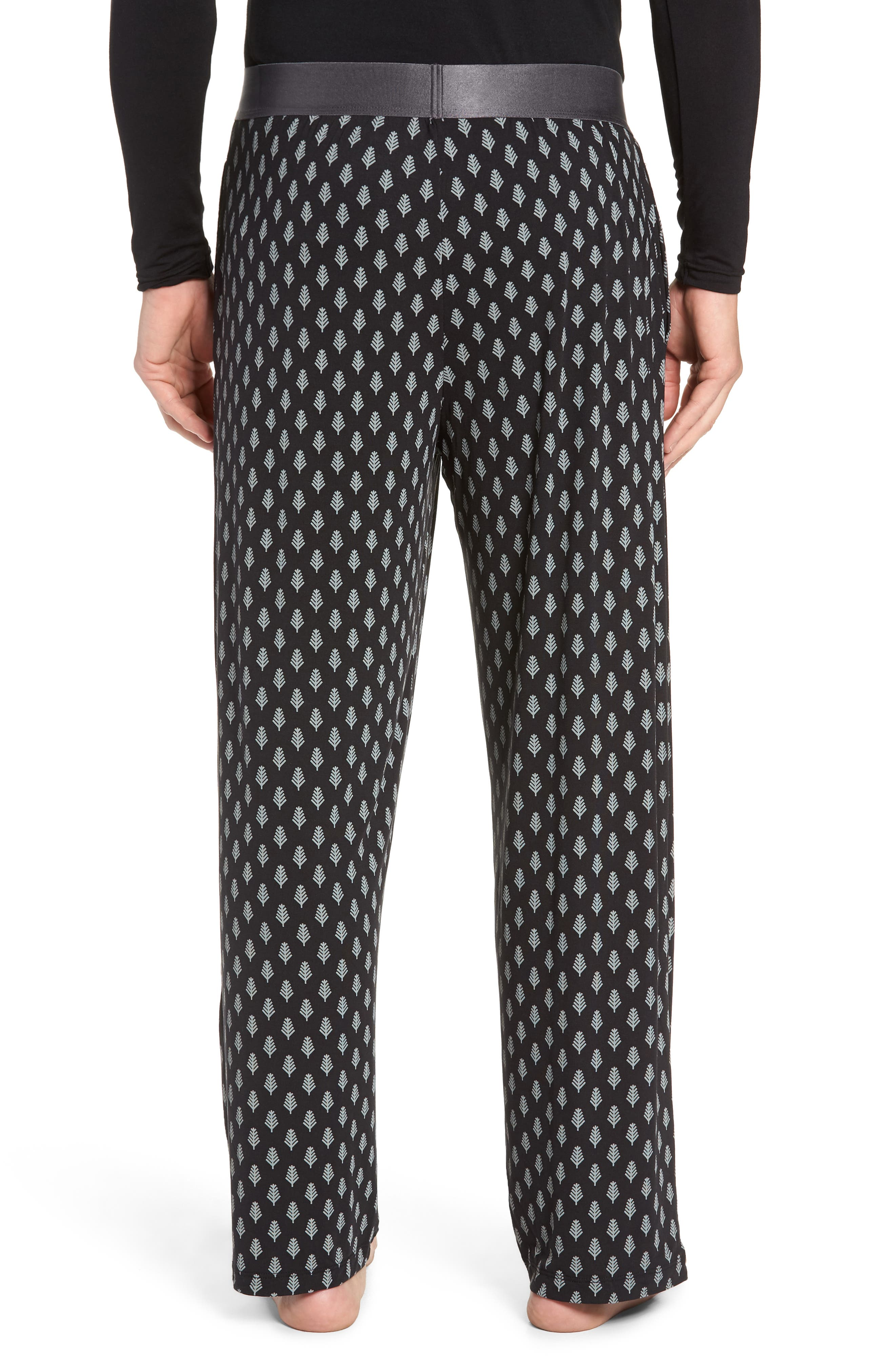 Second Skin Lounge Pants,                             Alternate thumbnail 2, color,                             BLACK SNOWY FOREST