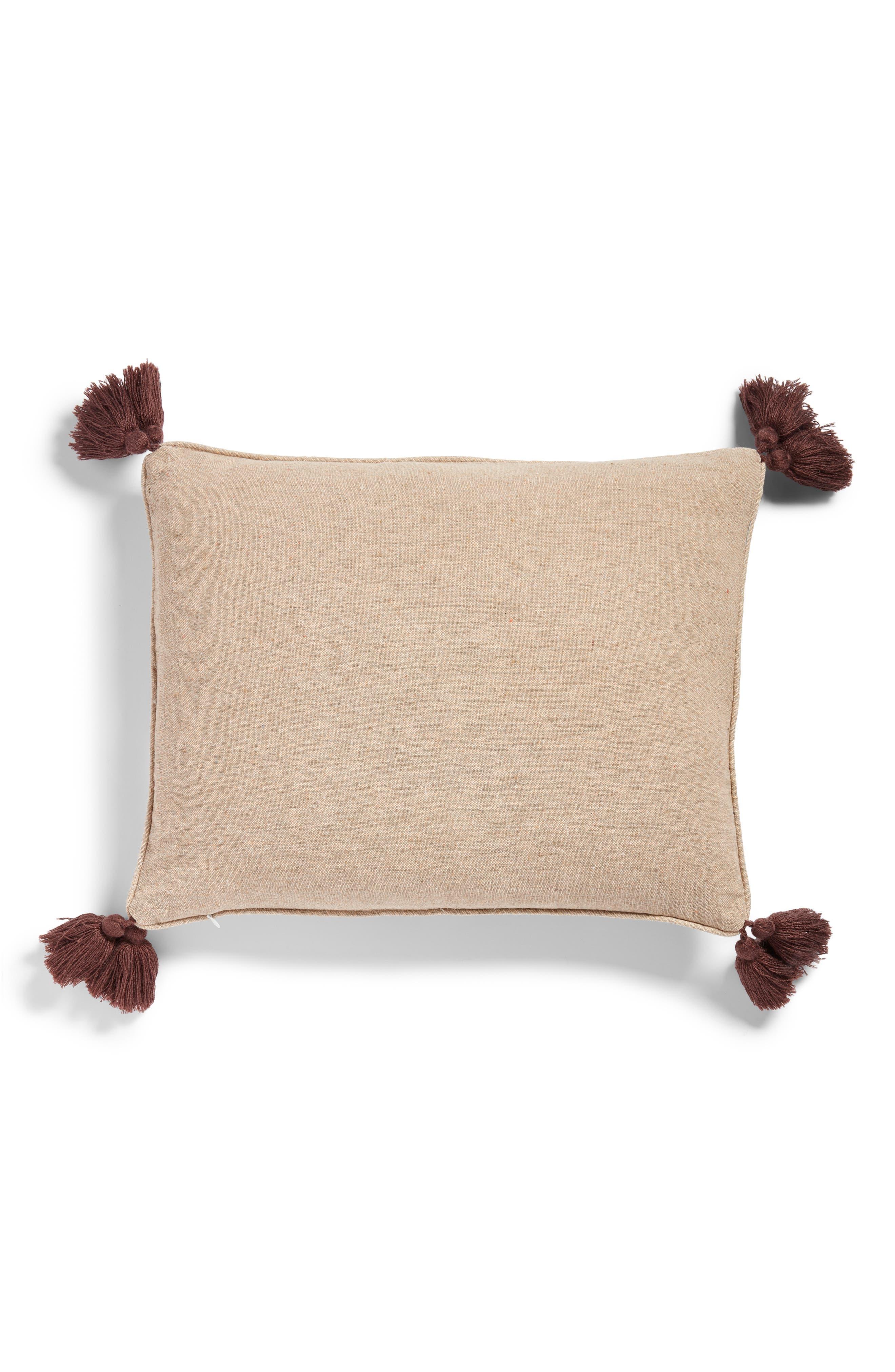 LEVTEX,                             Amata Medallion Tassel Accent Pillow,                             Alternate thumbnail 2, color,                             TAUPE