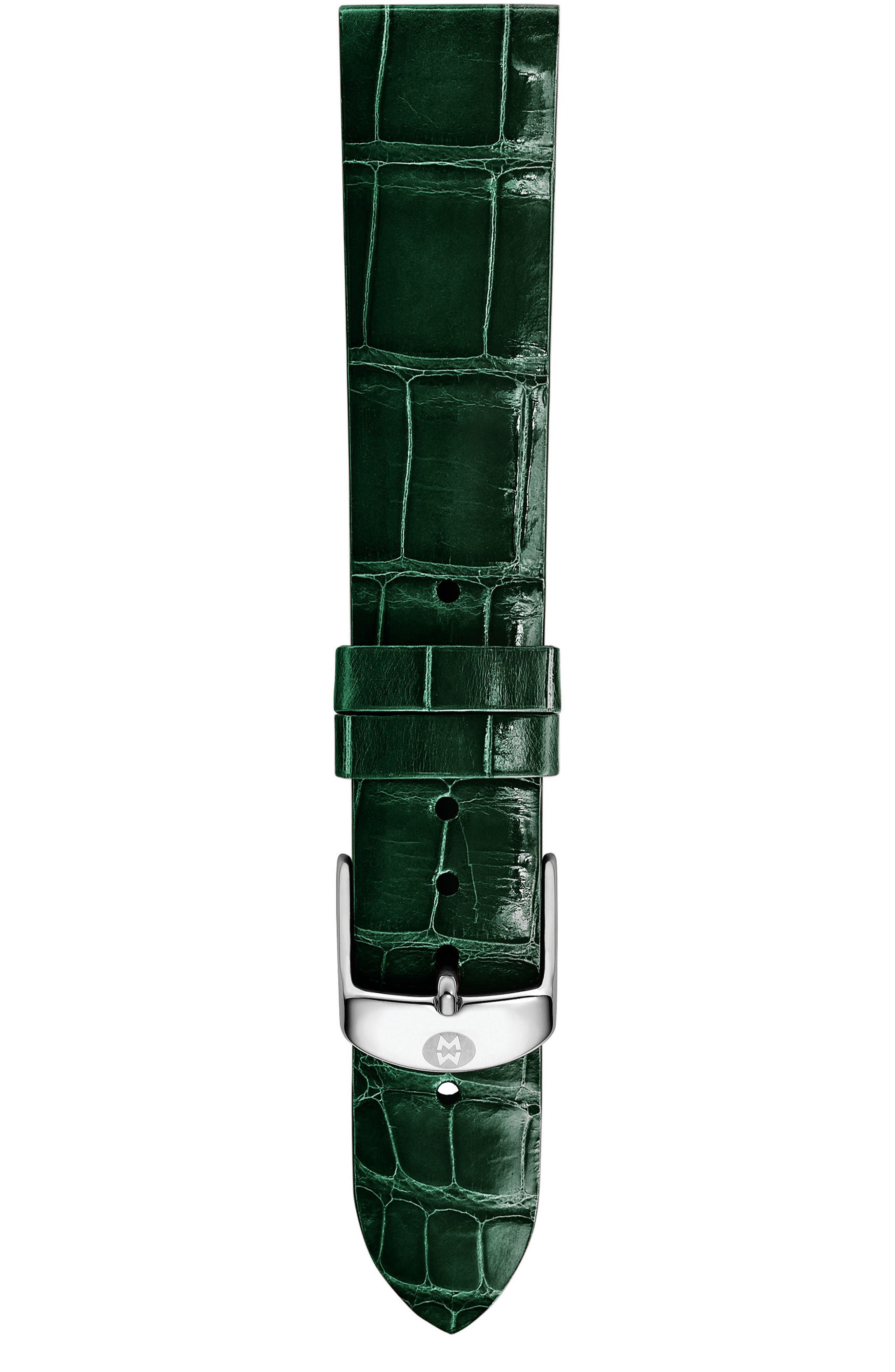16mm Alligator Watch Strap,                             Alternate thumbnail 4, color,
