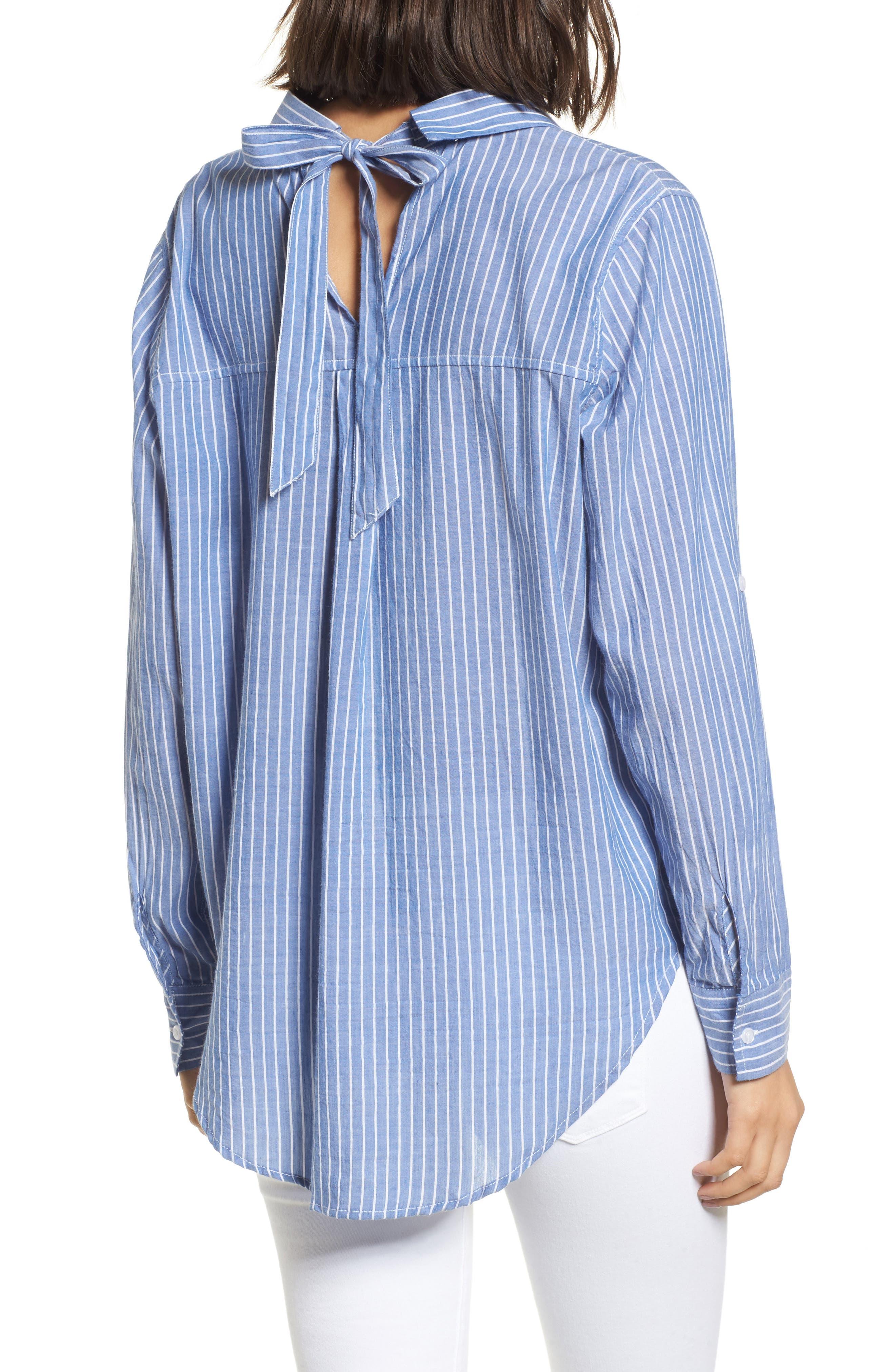 Mimi Stripe Shirt,                             Alternate thumbnail 2, color,                             494