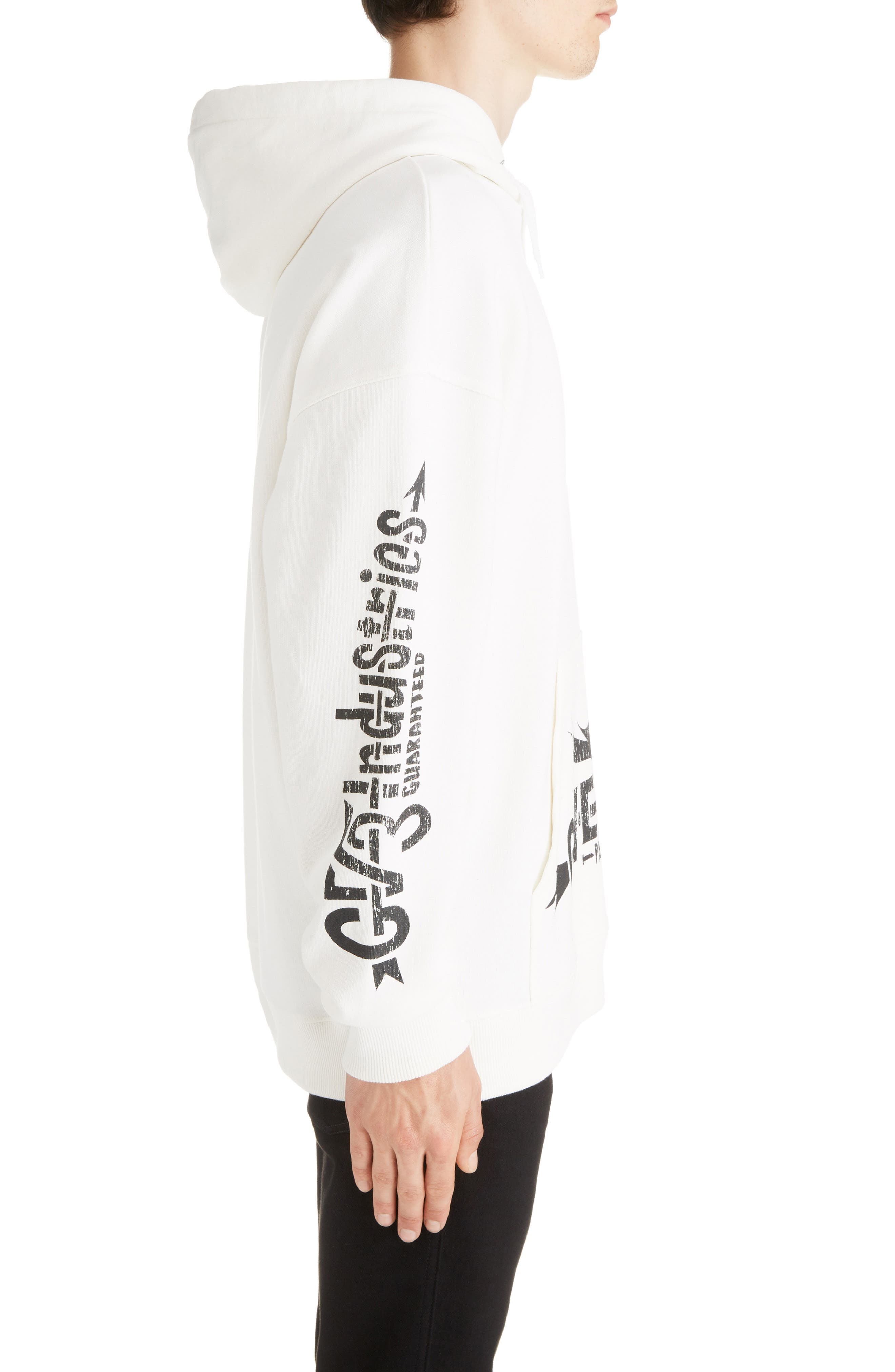 GIVENCHY,                             Taurus Hoodie,                             Alternate thumbnail 3, color,                             OFF WHITE