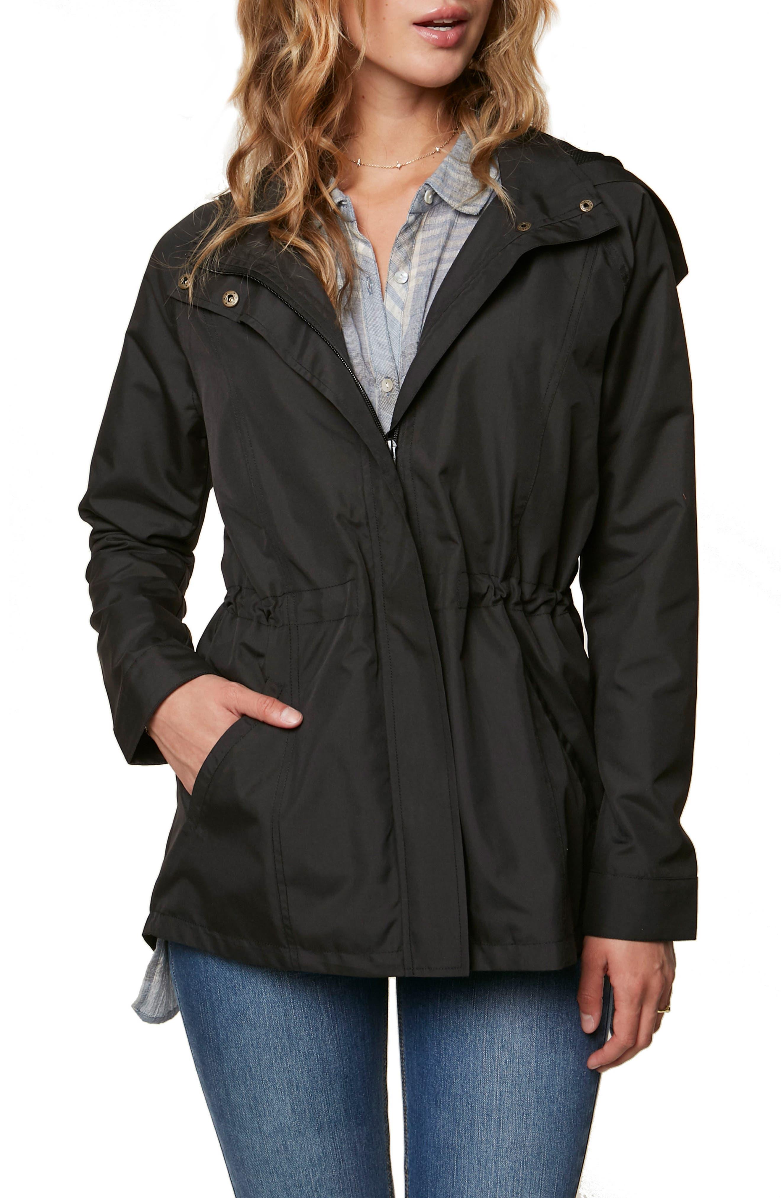 Gale Waterproof Hooded Jacket,                             Main thumbnail 1, color,                             001