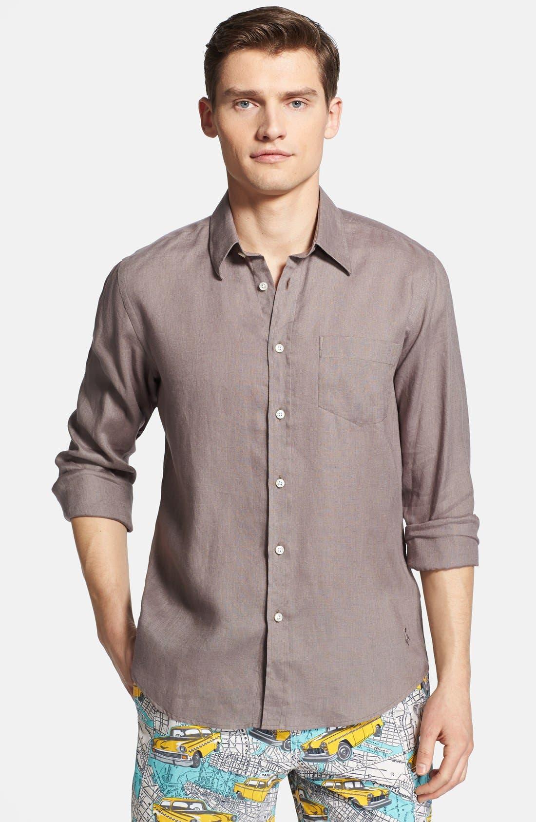 'Caroubier' Linen Shirt,                             Main thumbnail 4, color,
