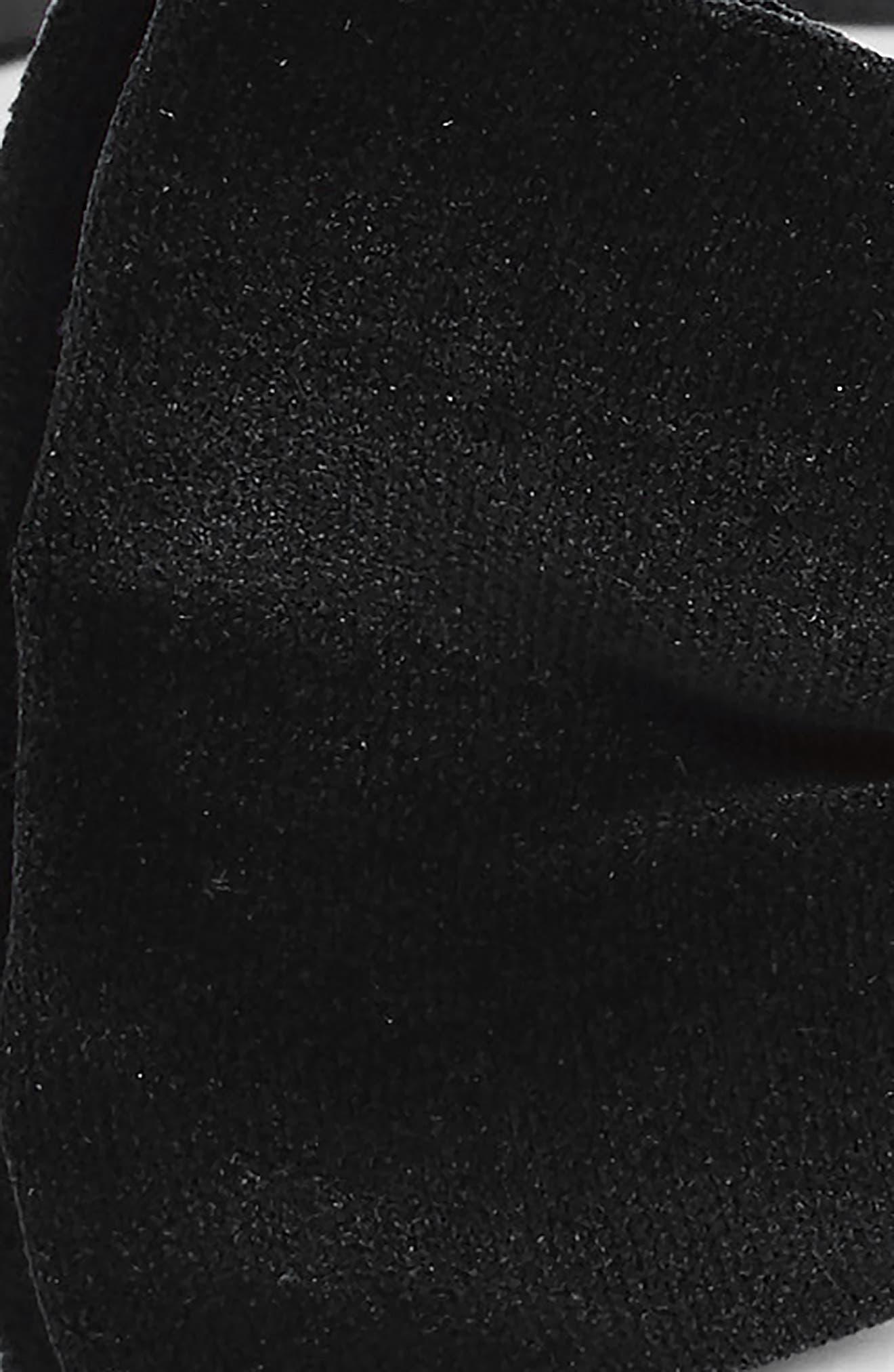 Velvet Bow Tie,                             Alternate thumbnail 4, color,