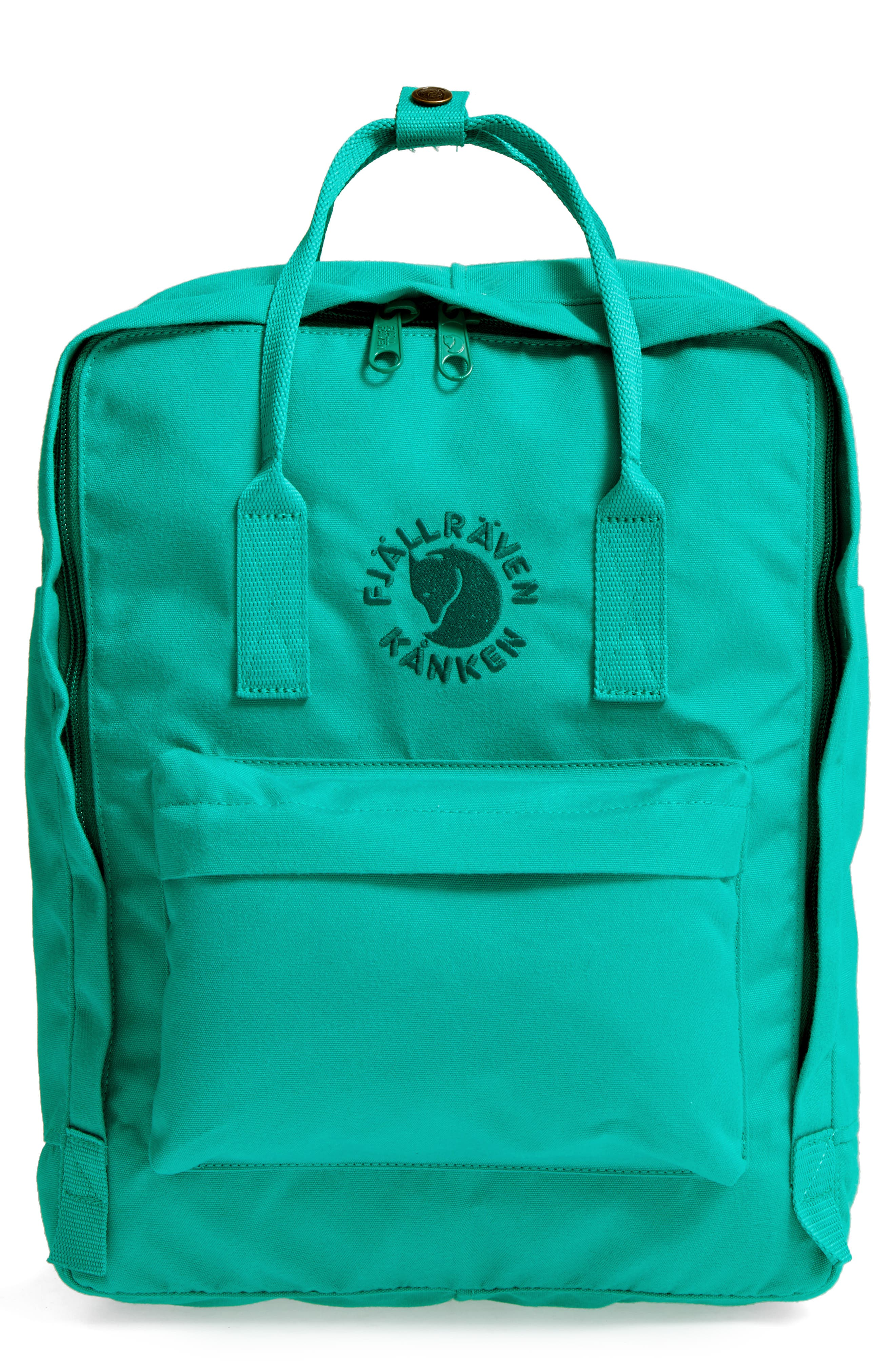 Re-Kånken Water Resistant Backpack,                             Main thumbnail 1, color,                             EMERALD