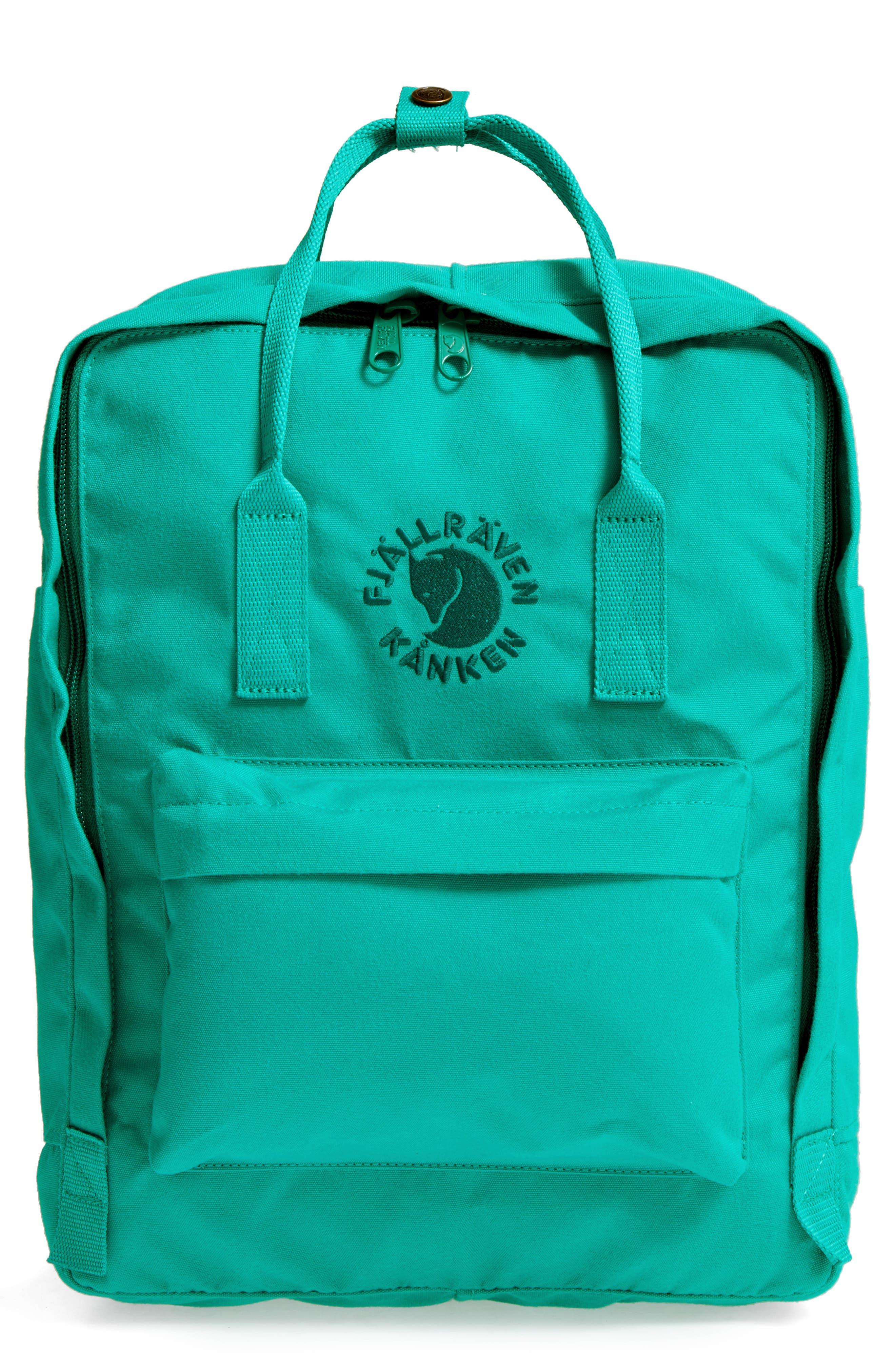 Re-Kånken Water Resistant Backpack,                         Main,                         color, EMERALD