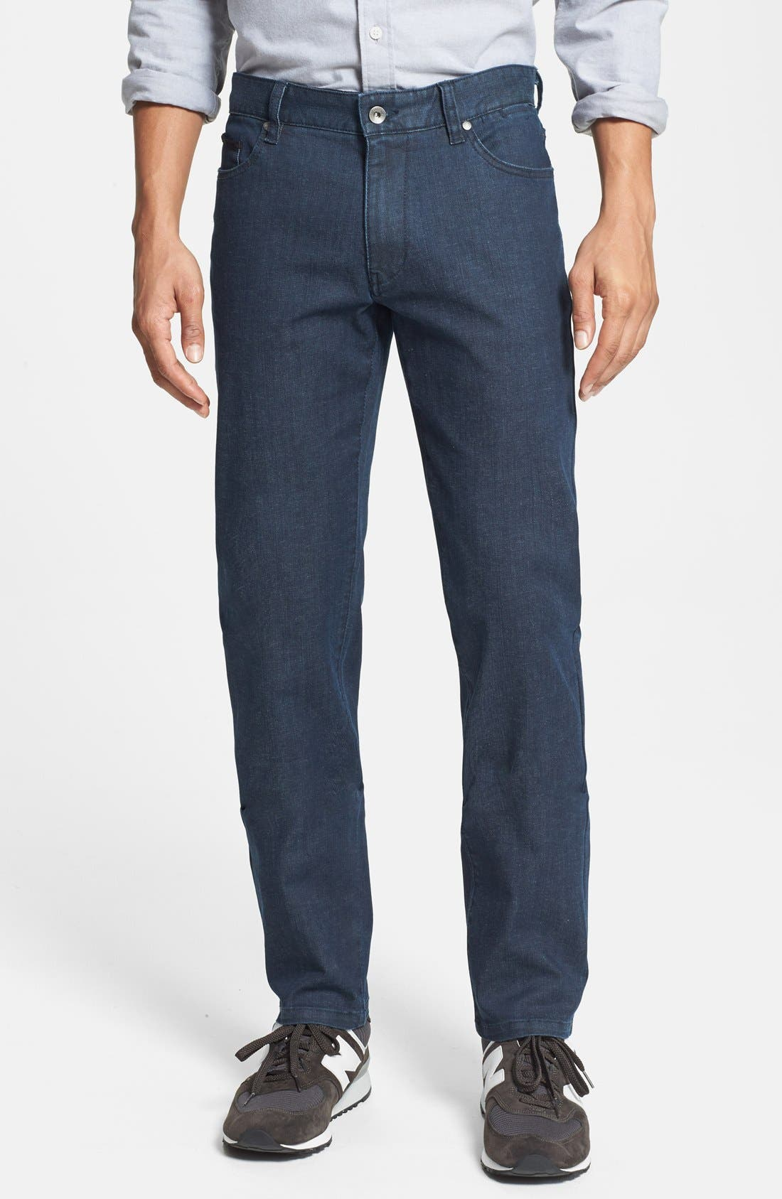 'Esher' Enzyme Wash Straight Leg Jeans, Main, color, 417