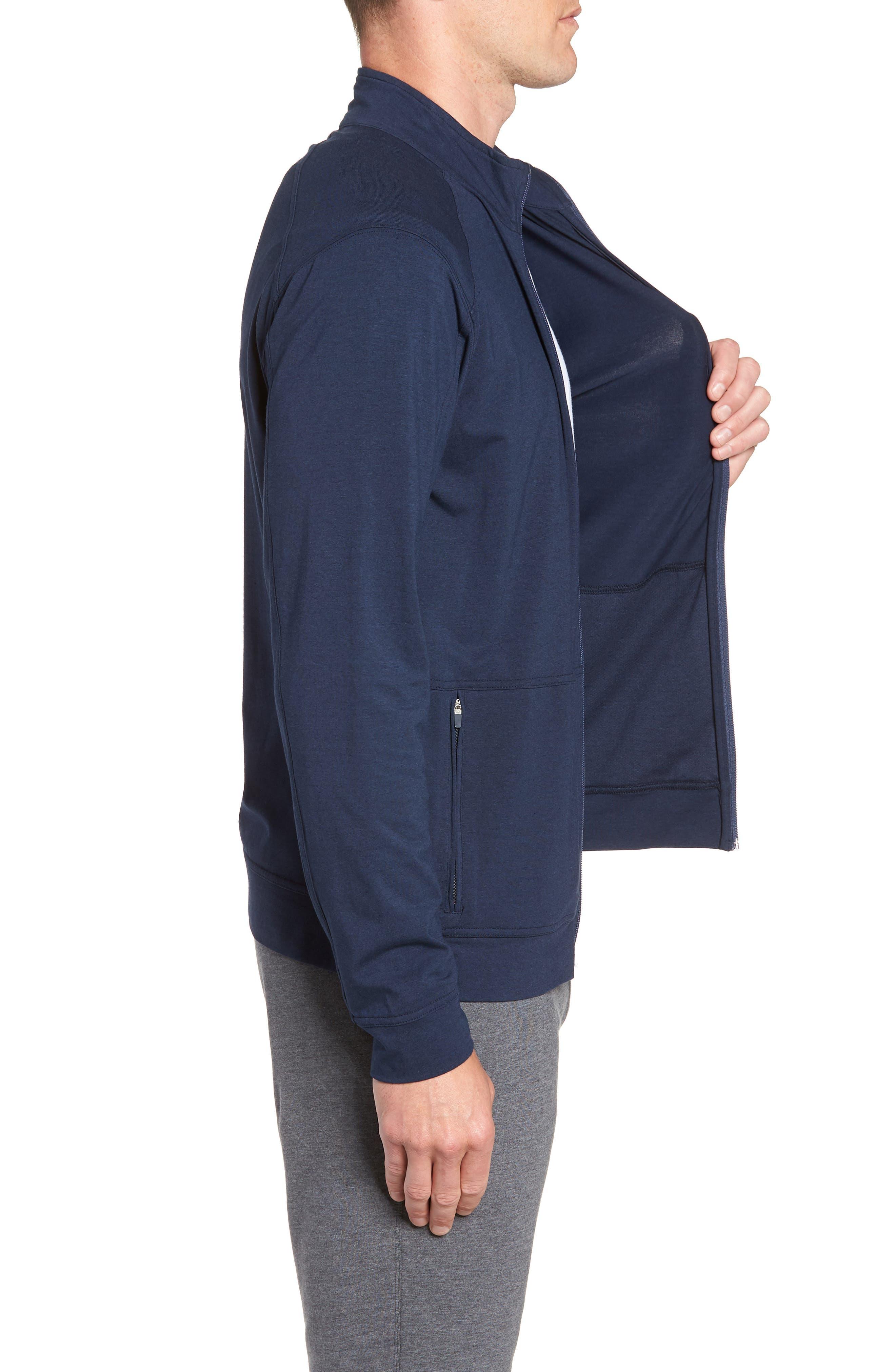 TASC PERFORMANCE,                             Carrollton Zip Jacket,                             Alternate thumbnail 3, color,                             CLASSIC NAVY