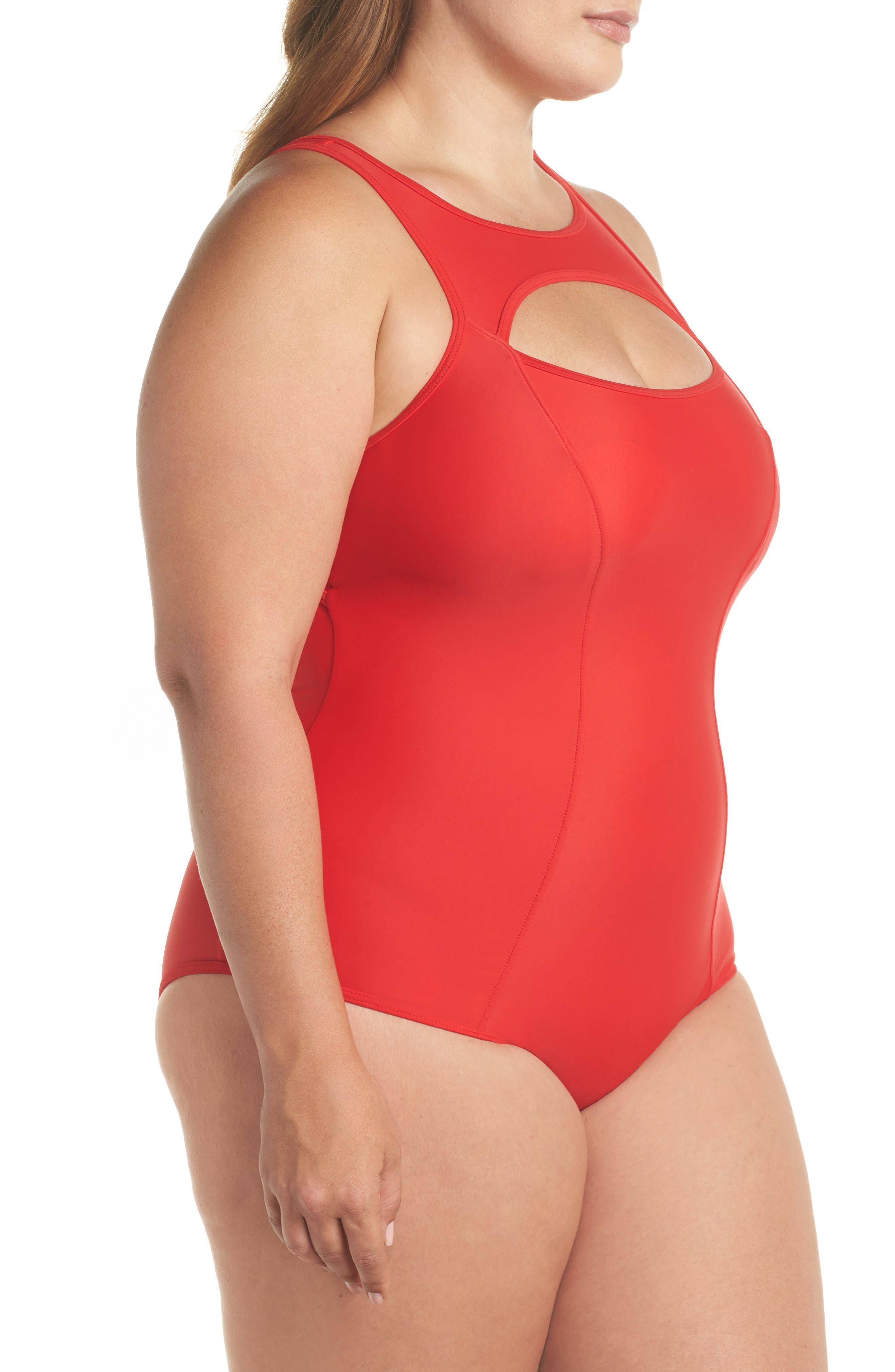 Saldana One-Piece Swimsuit,                             Alternate thumbnail 3, color,                             600