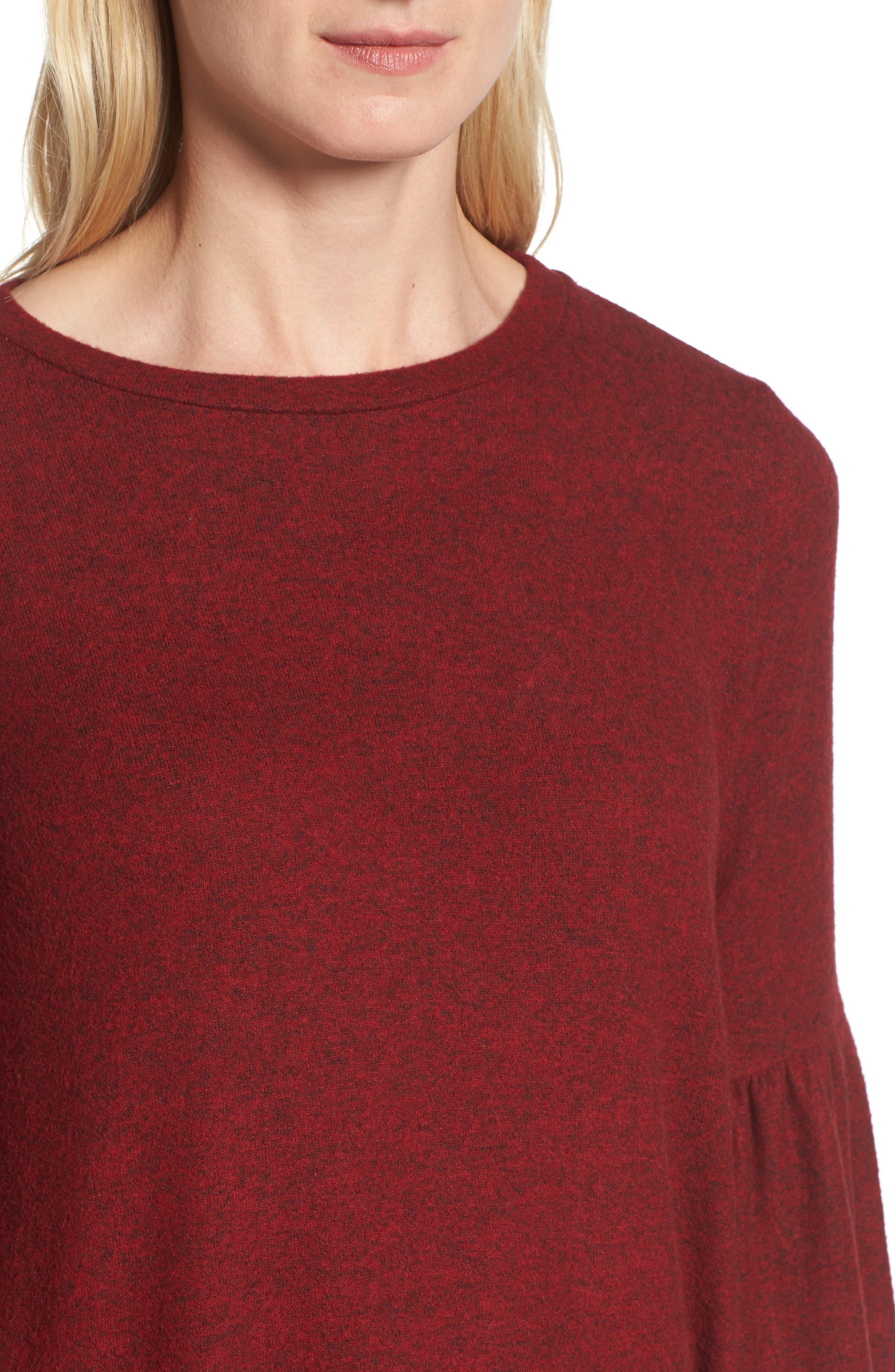 Bell Sleeve Cozy Fleece Pullover,                             Alternate thumbnail 41, color,