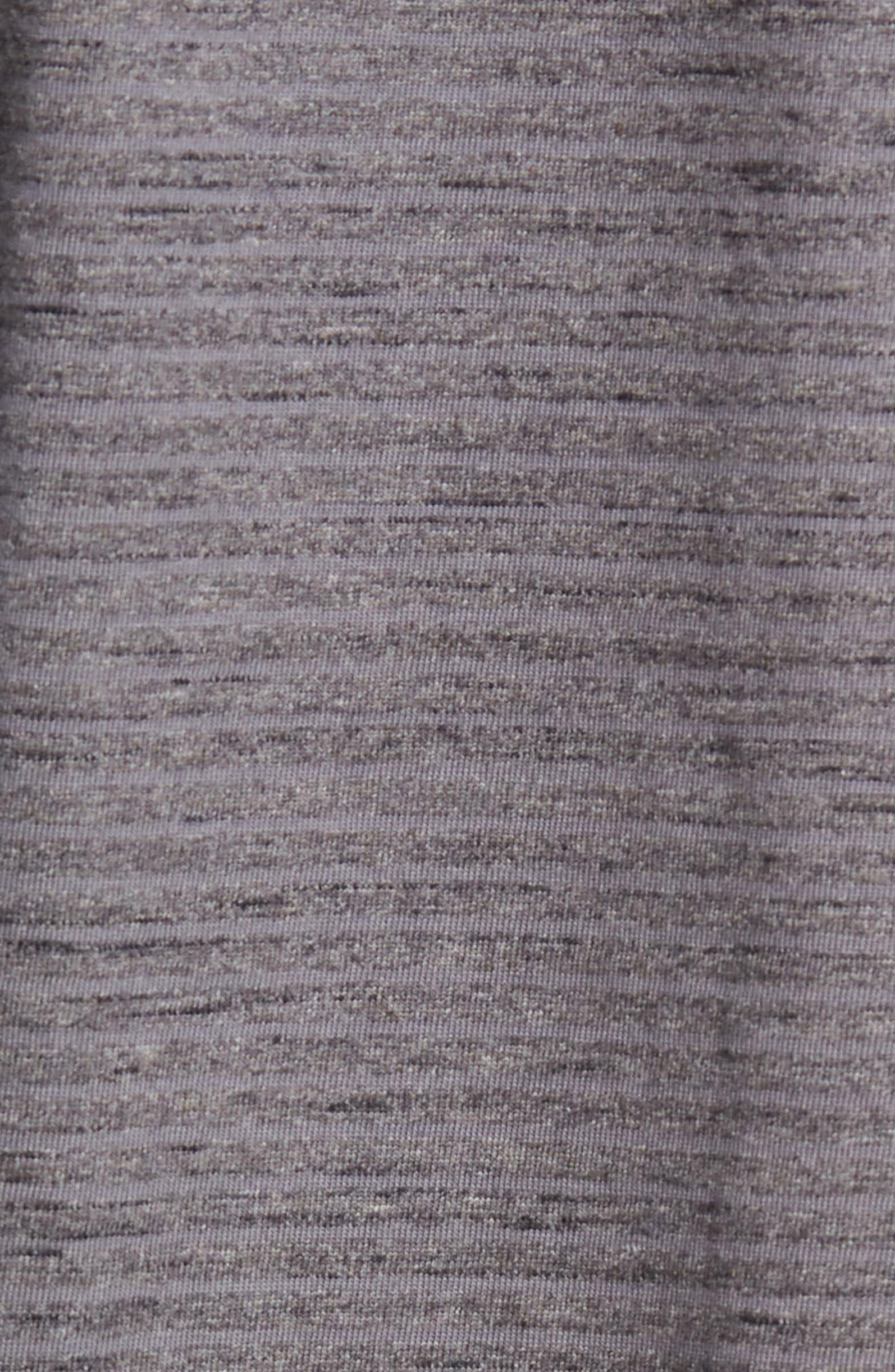 Mélange Stripe Jersey Polo,                             Alternate thumbnail 5, color,                             GREY TORNADO