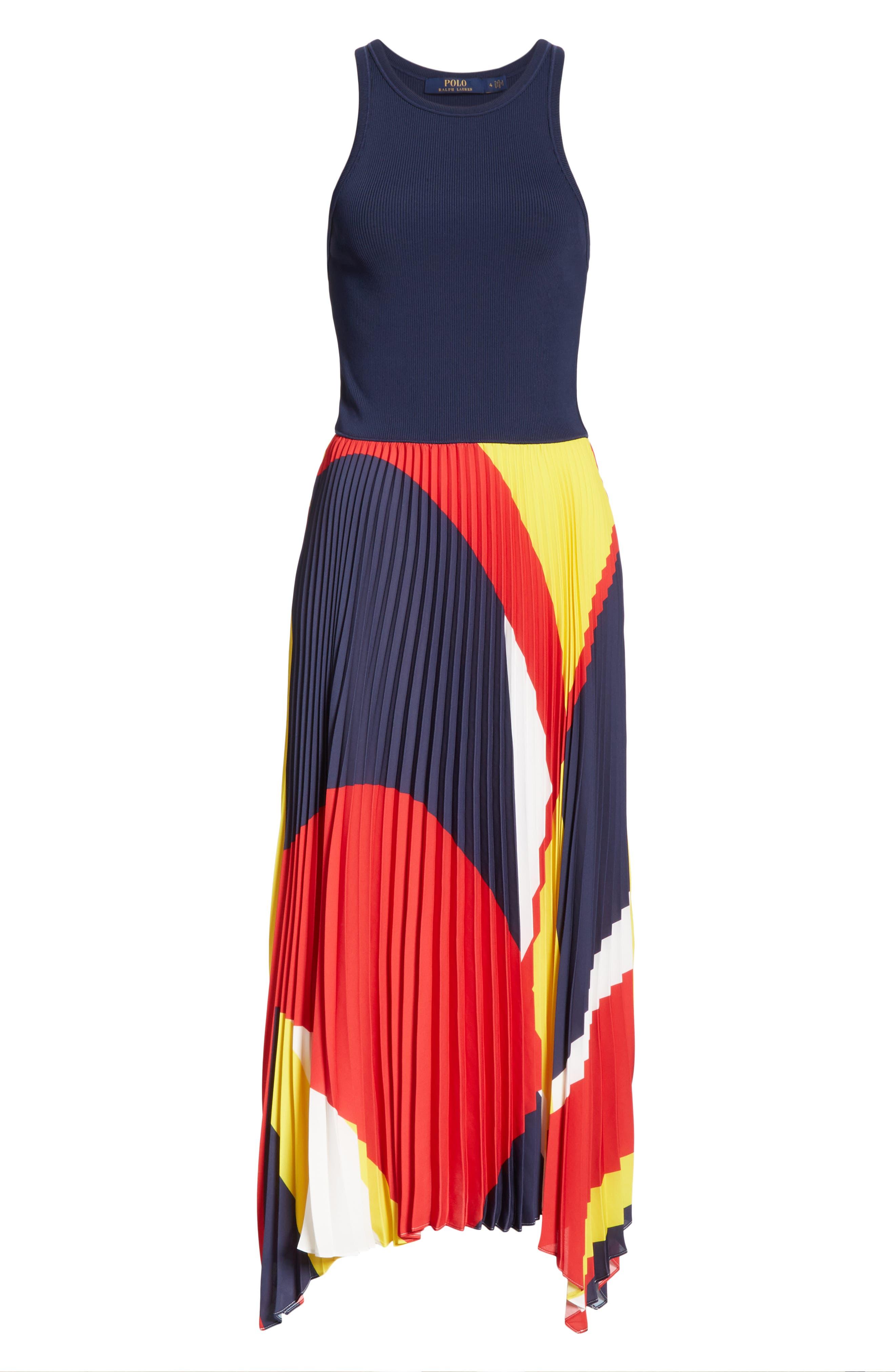 Alyah Mixed Media Dress,                             Alternate thumbnail 6, color,                             410