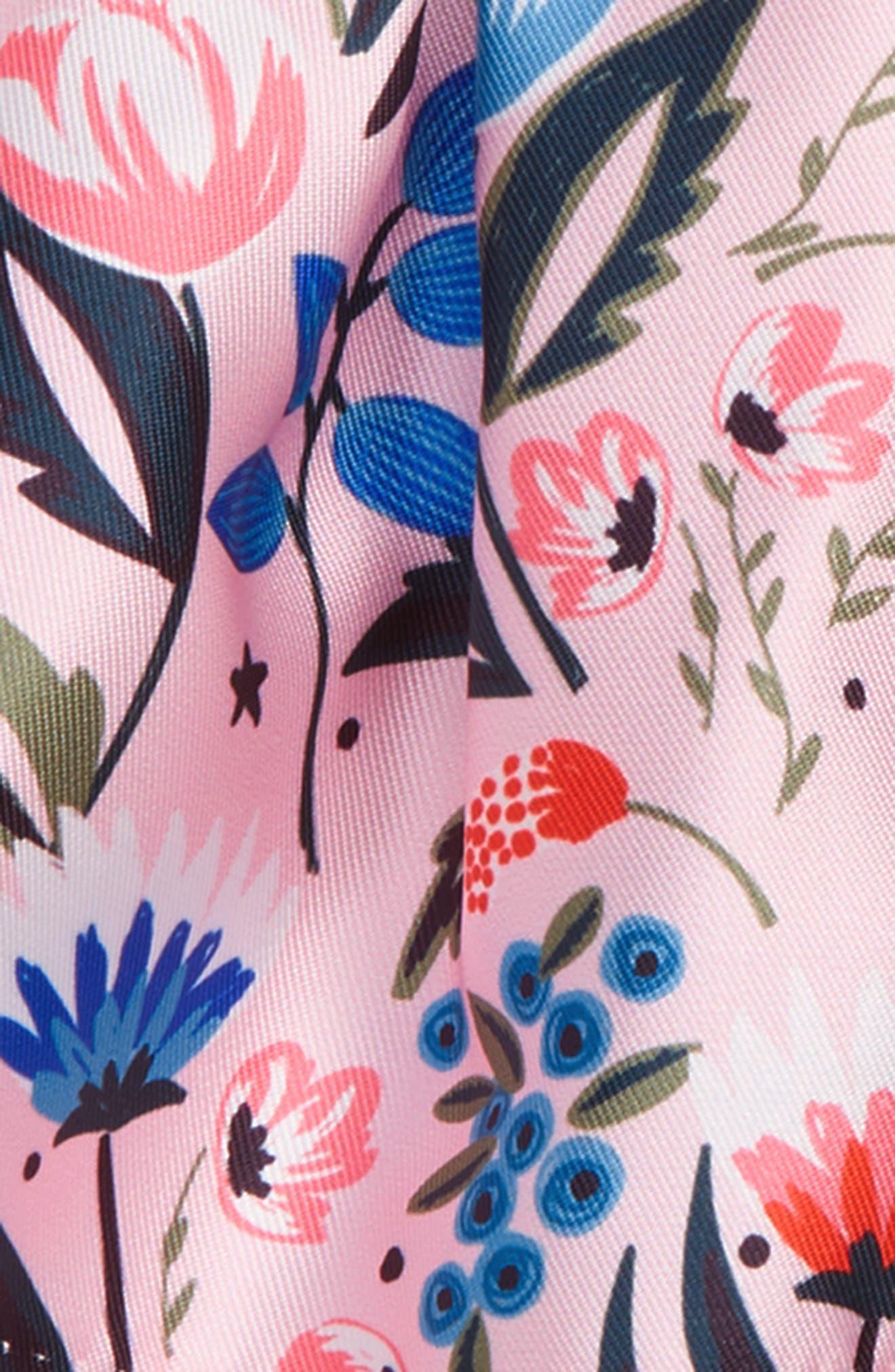 Floral Crossback Dress,                             Alternate thumbnail 3, color,                             650