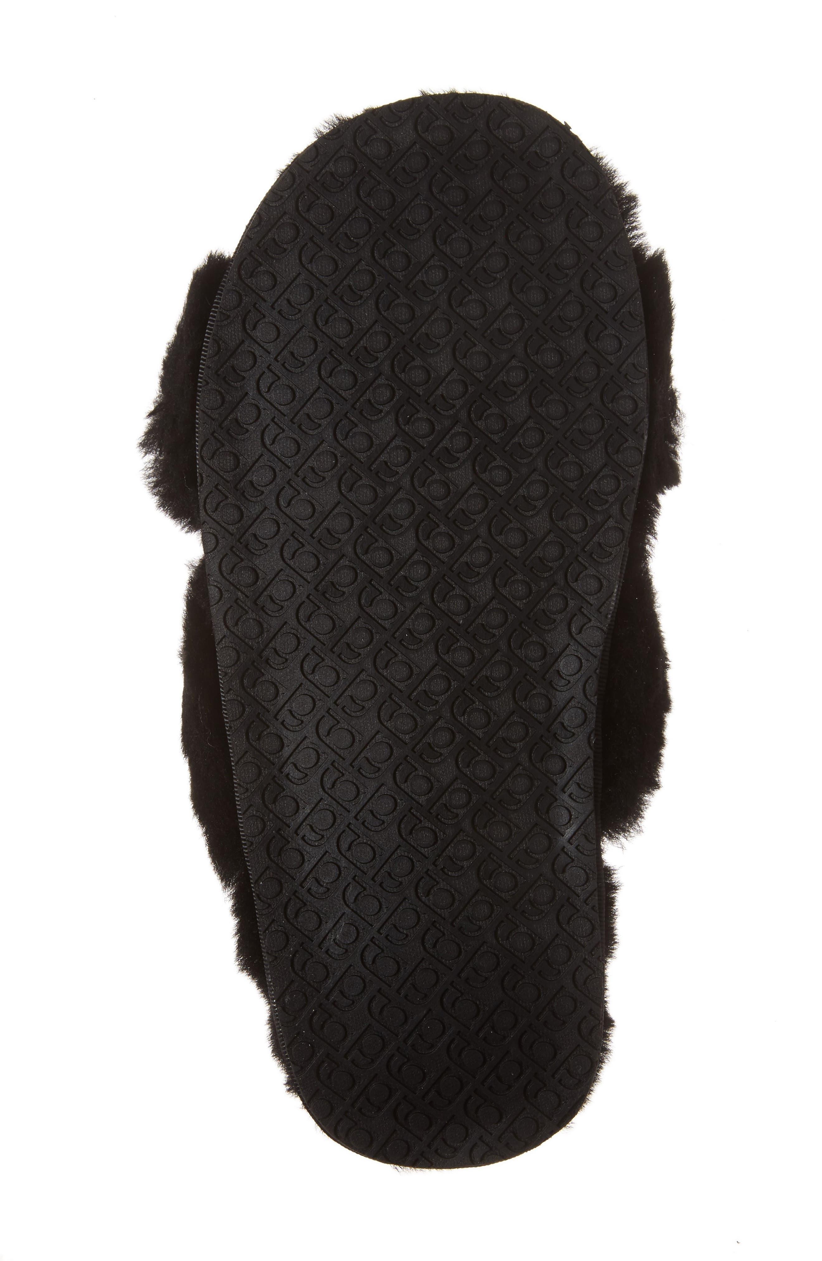 Mt. Hood Genuine Shearling Slipper,                             Alternate thumbnail 6, color,                             BLACK