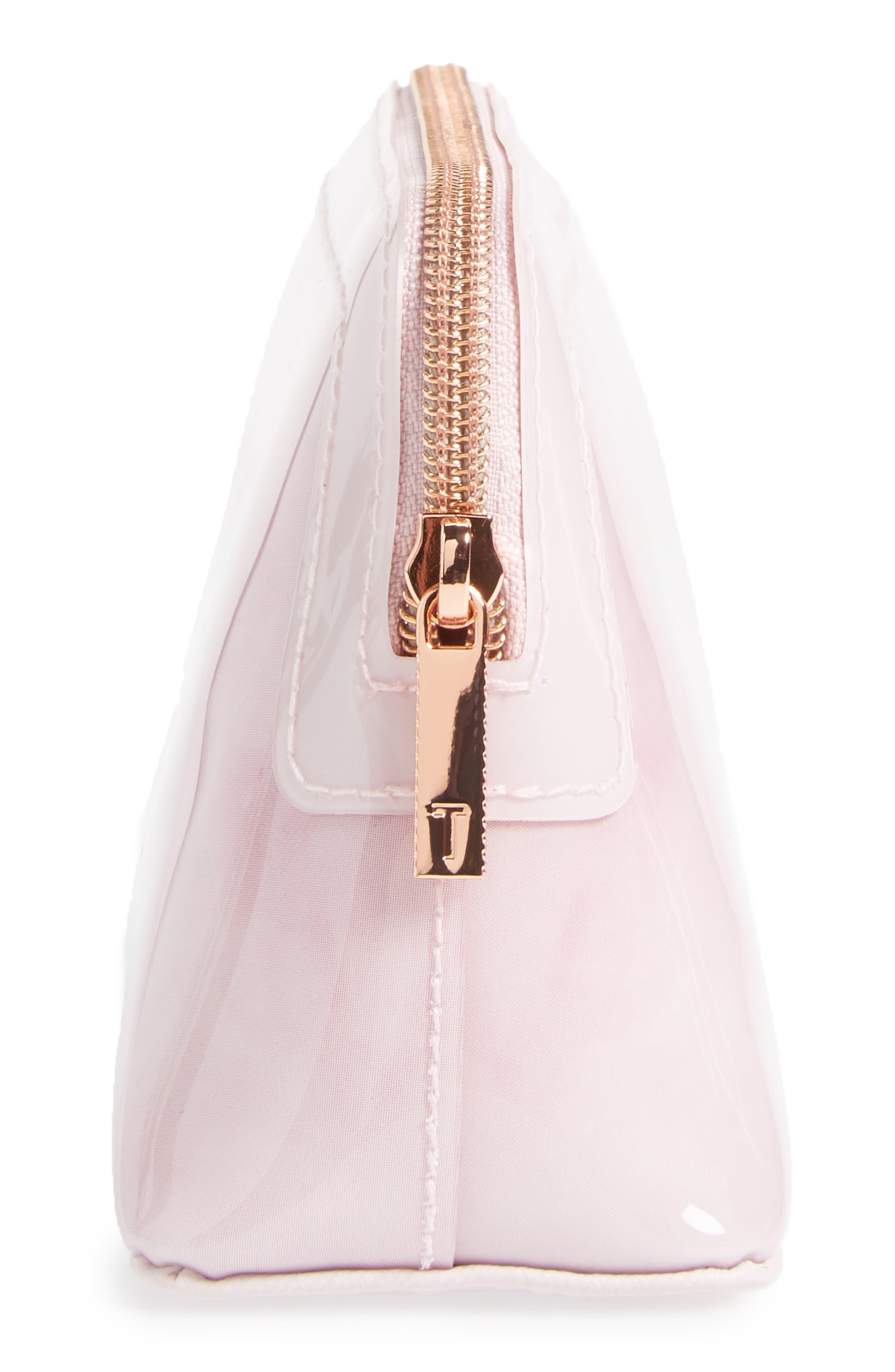 Zandra - Rose Quartz Cosmetics Bag,                             Alternate thumbnail 4, color,                             672