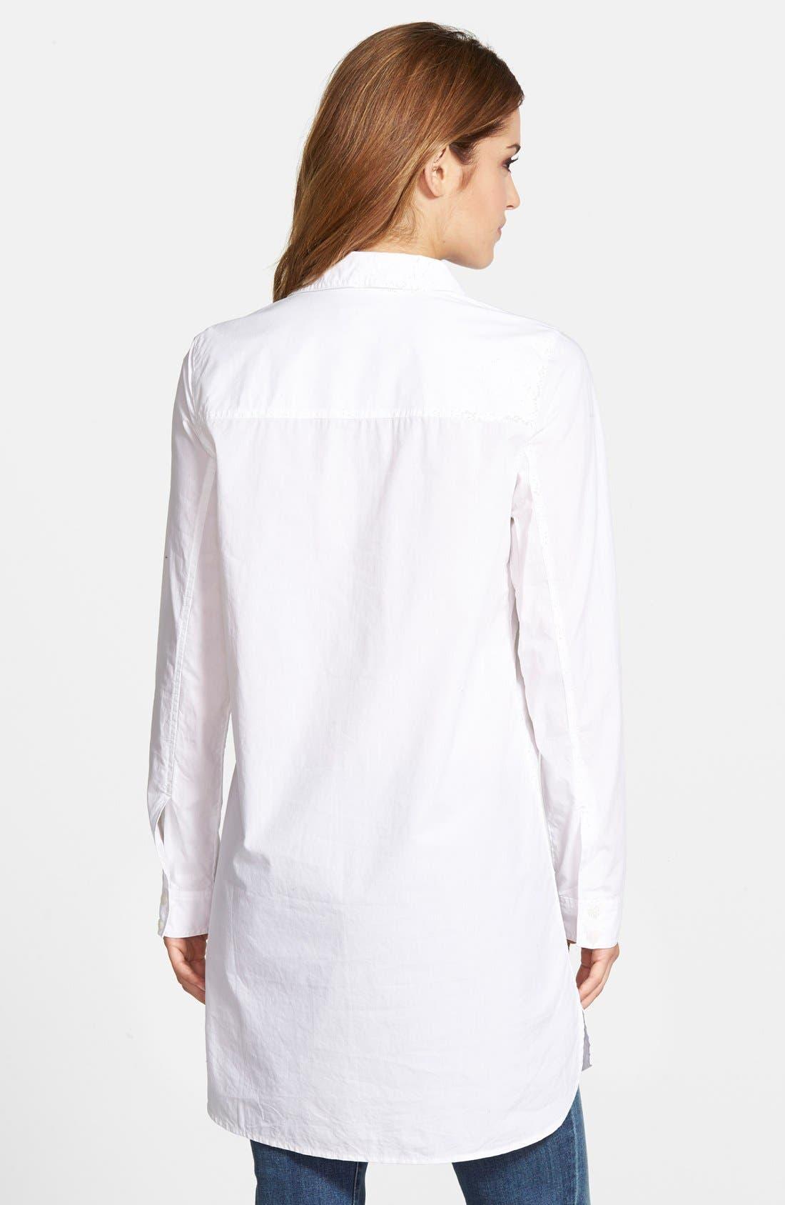 Two-Pocket Tunic Shirt,                             Alternate thumbnail 3, color,                             100