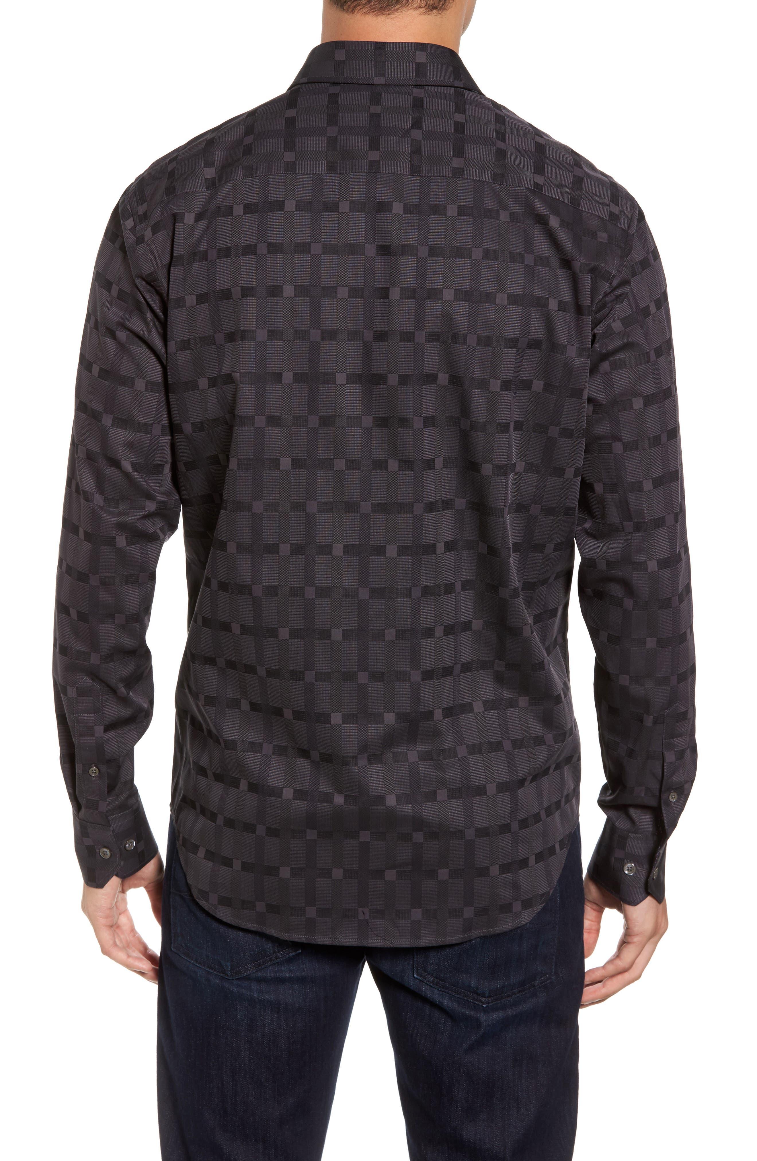 Classic Fit Check Jacquard Sport Shirt,                             Alternate thumbnail 2, color,
