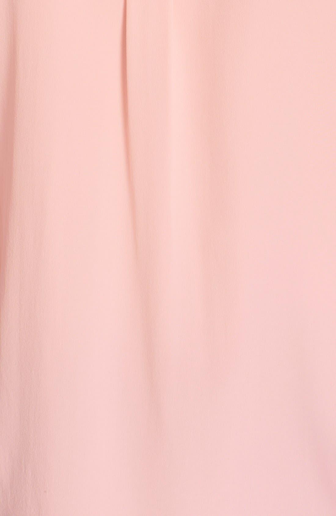 'Slim Signature' Sleeveless Silk Shirt,                             Alternate thumbnail 203, color,