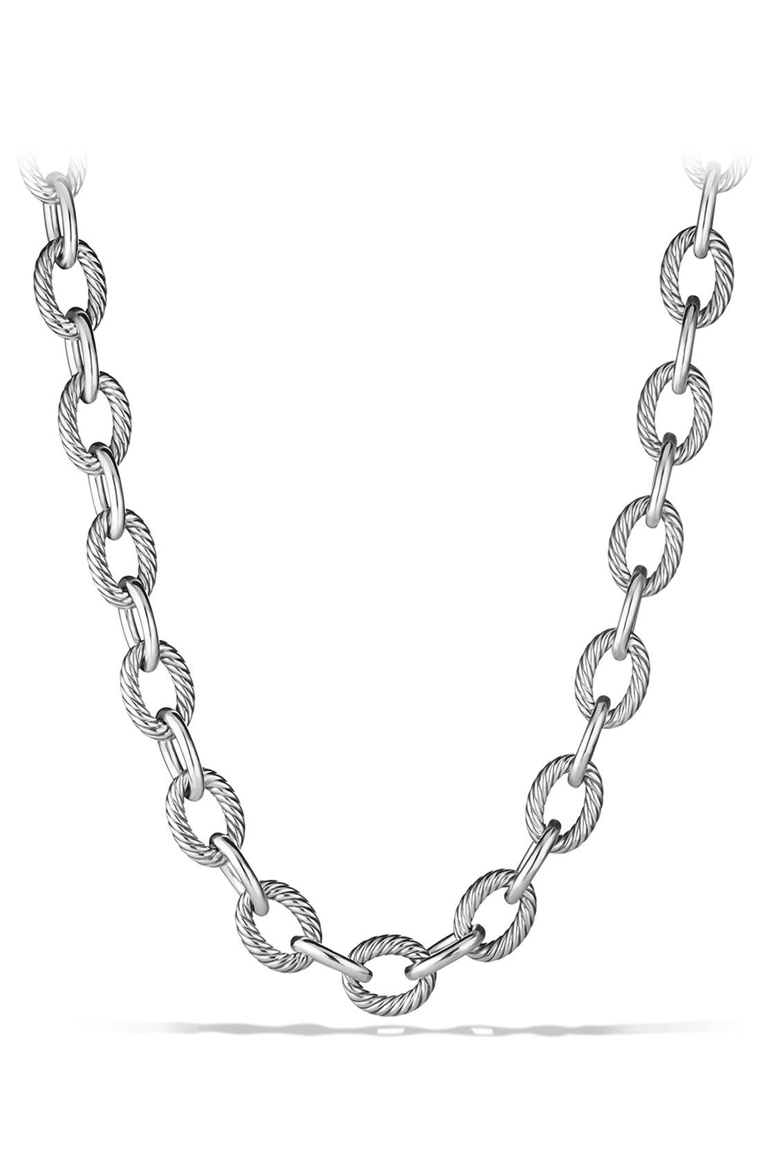 'Oval' Extra-Large Link Necklace,                             Main thumbnail 1, color,                             040