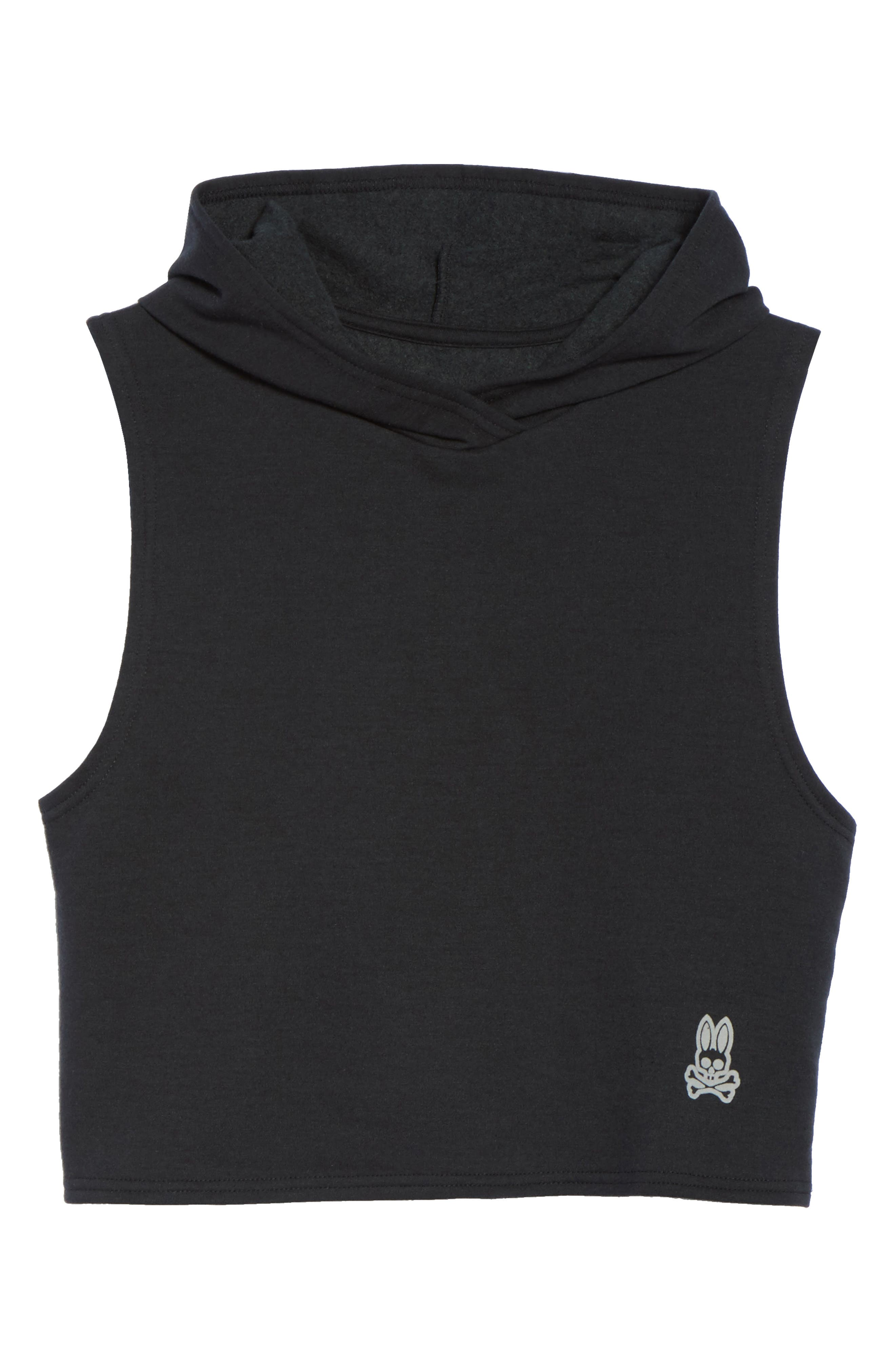 Muscle Sleeveless Hoodie,                             Alternate thumbnail 6, color,                             001