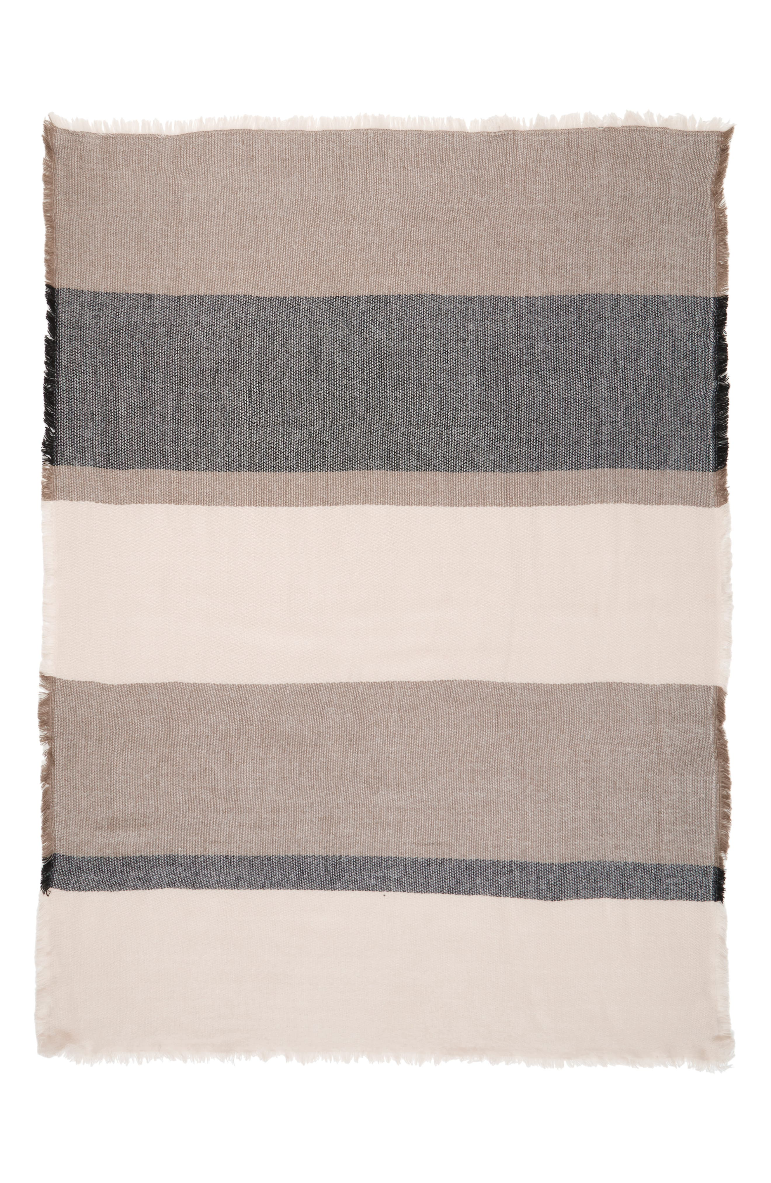 Accessory Collective Stripe Scarf,                             Alternate thumbnail 2, color,                             020