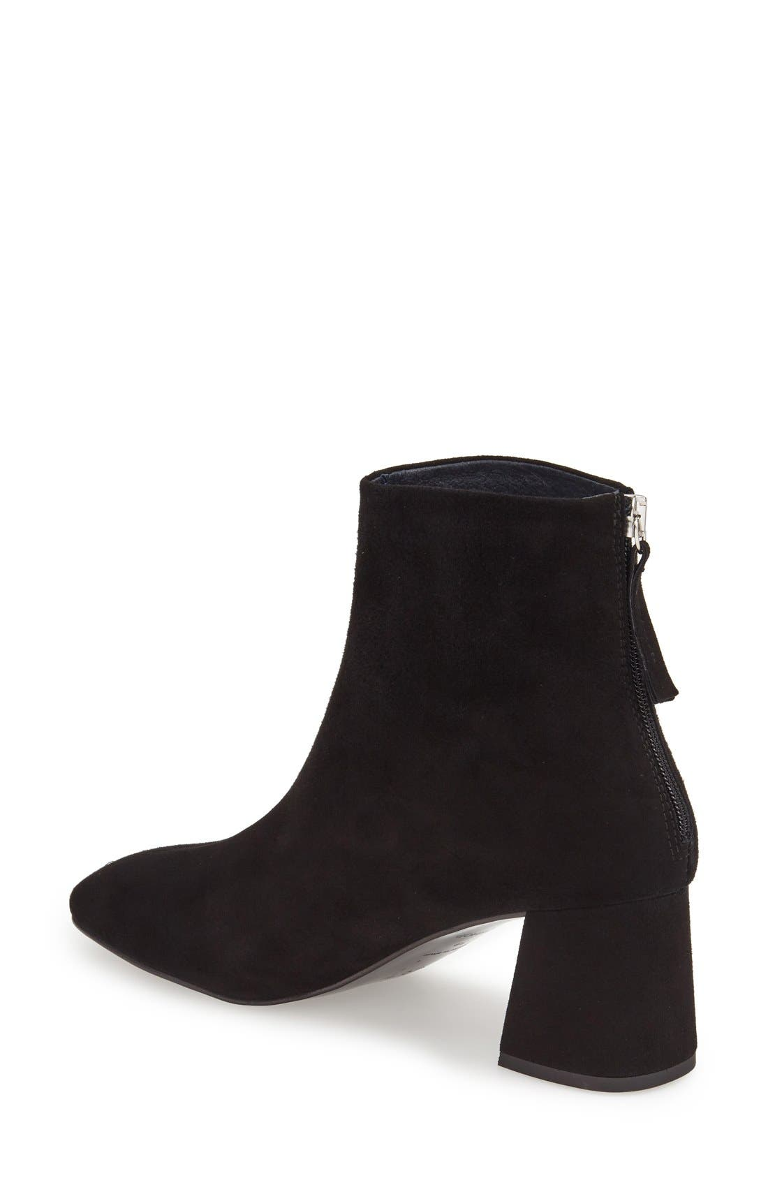 'Maggie' Flared Heel Bootie,                             Alternate thumbnail 2, color,                             001