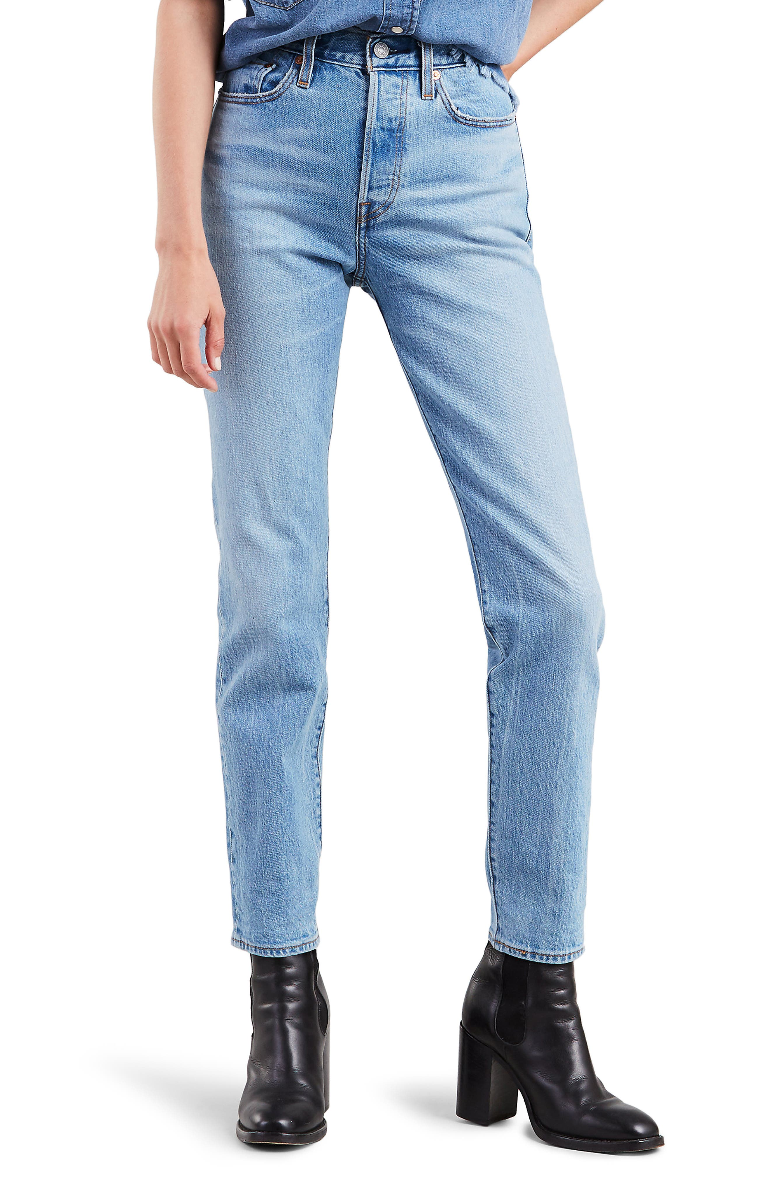LEVI'S<SUP>®</SUP>,                             Wedgie Icon Fit High Waist Ankle Jeans,                             Main thumbnail 1, color,                             BRIGHT SIDE