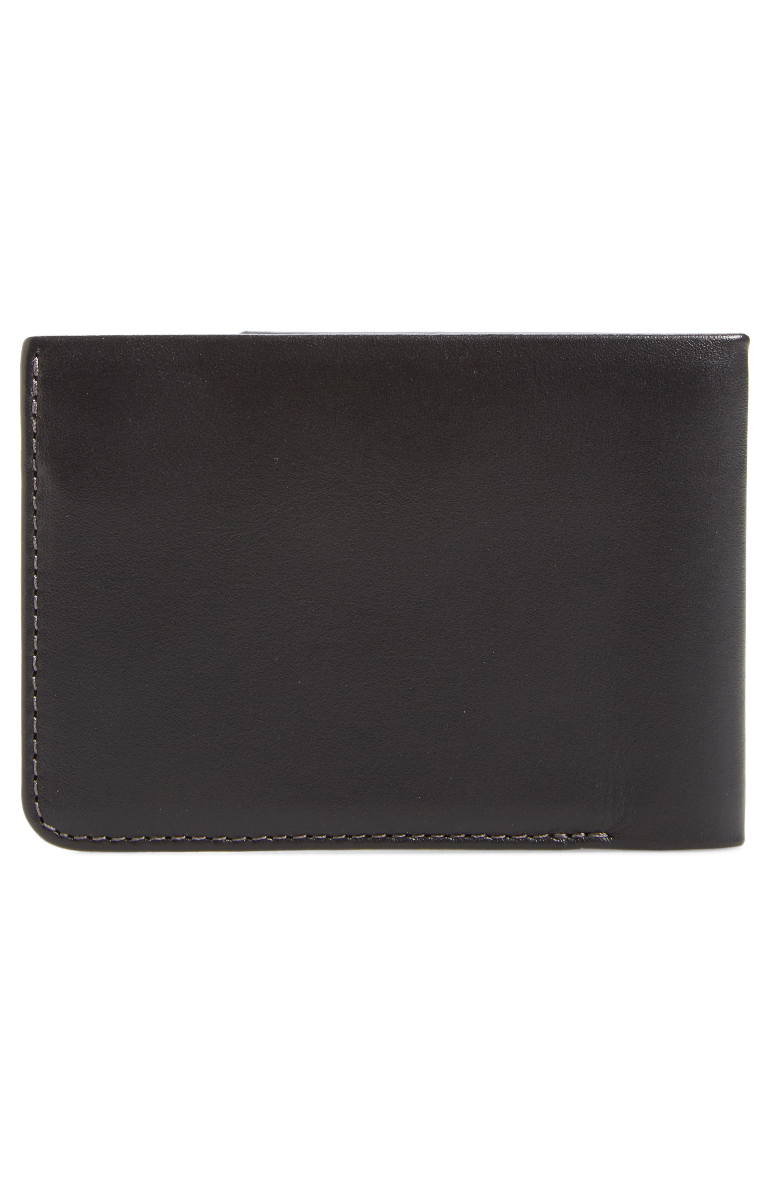 Low Down Leather Wallet,                             Alternate thumbnail 3, color,                             001