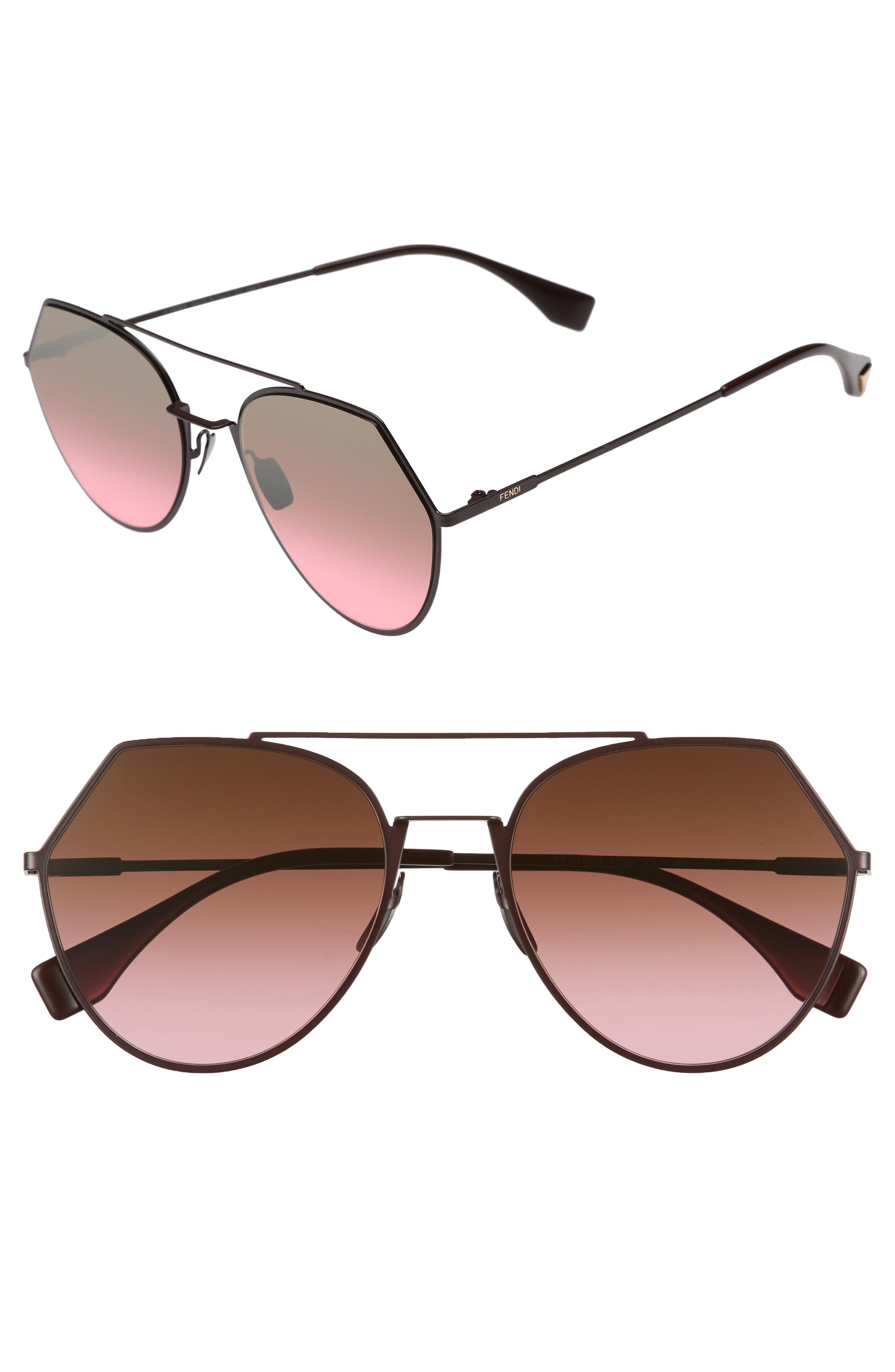 Eyeline 55mm Sunglasses,                             Main thumbnail 1, color,                             PLUM