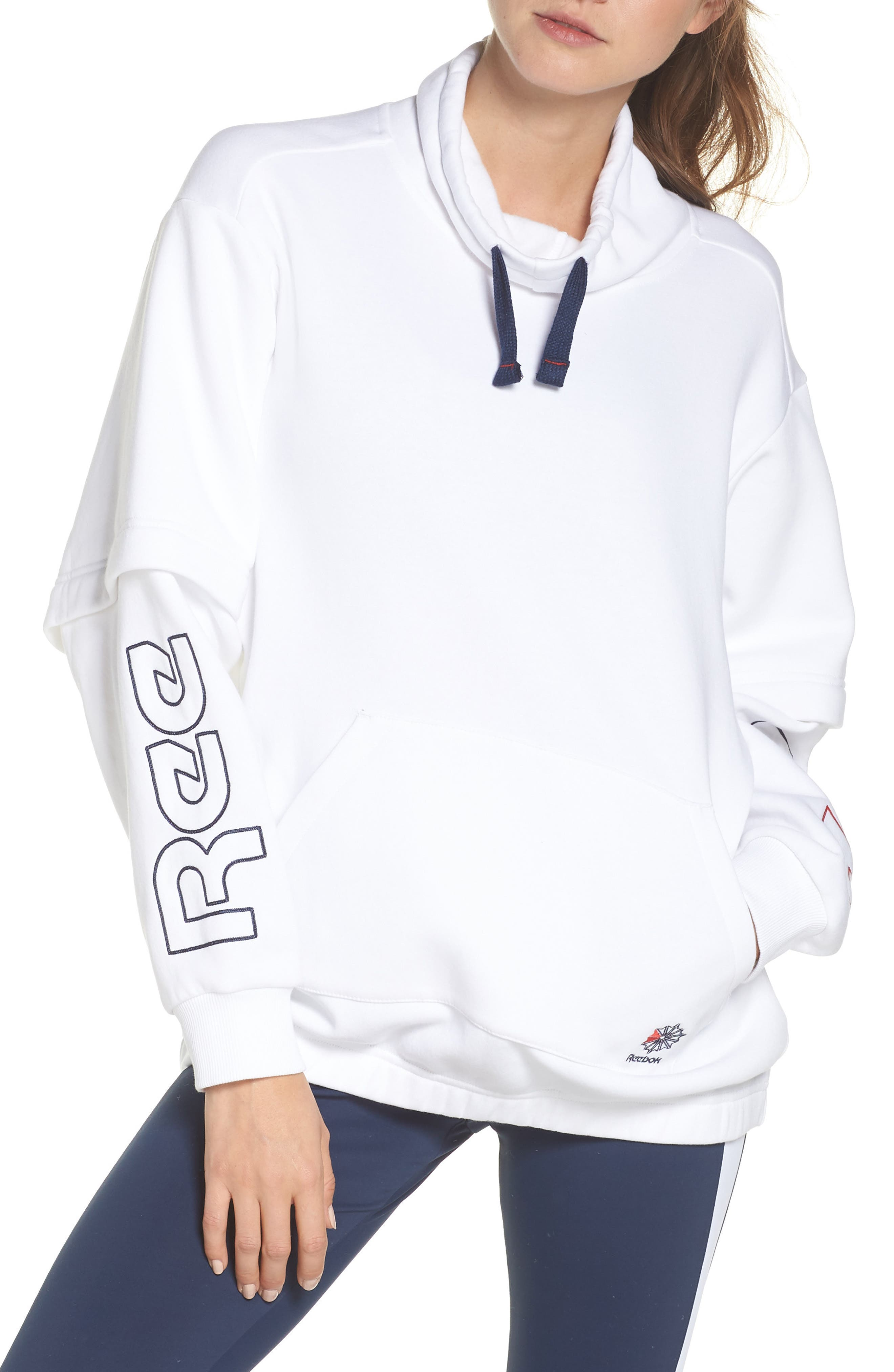 AC Oversize Hoodie,                             Main thumbnail 1, color,                             WHITE
