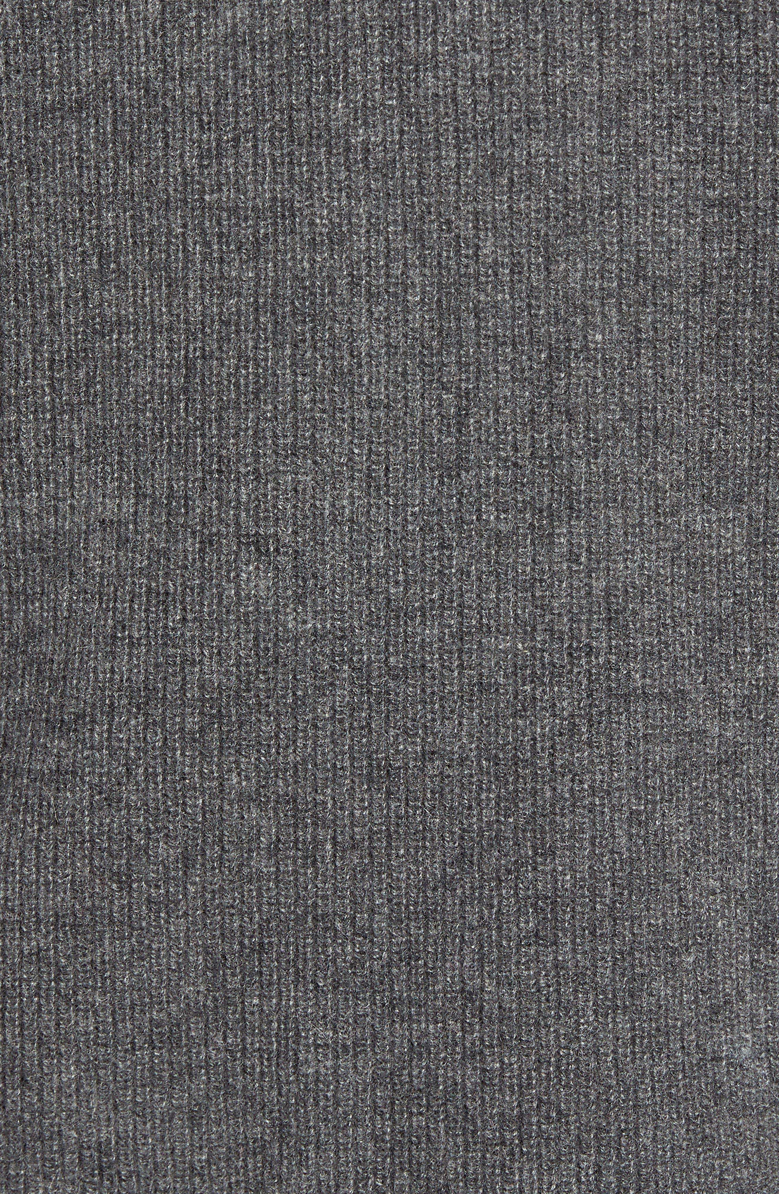Stripe Sleeve Cashmere Sweater,                             Alternate thumbnail 5, color,                             DARK GREY