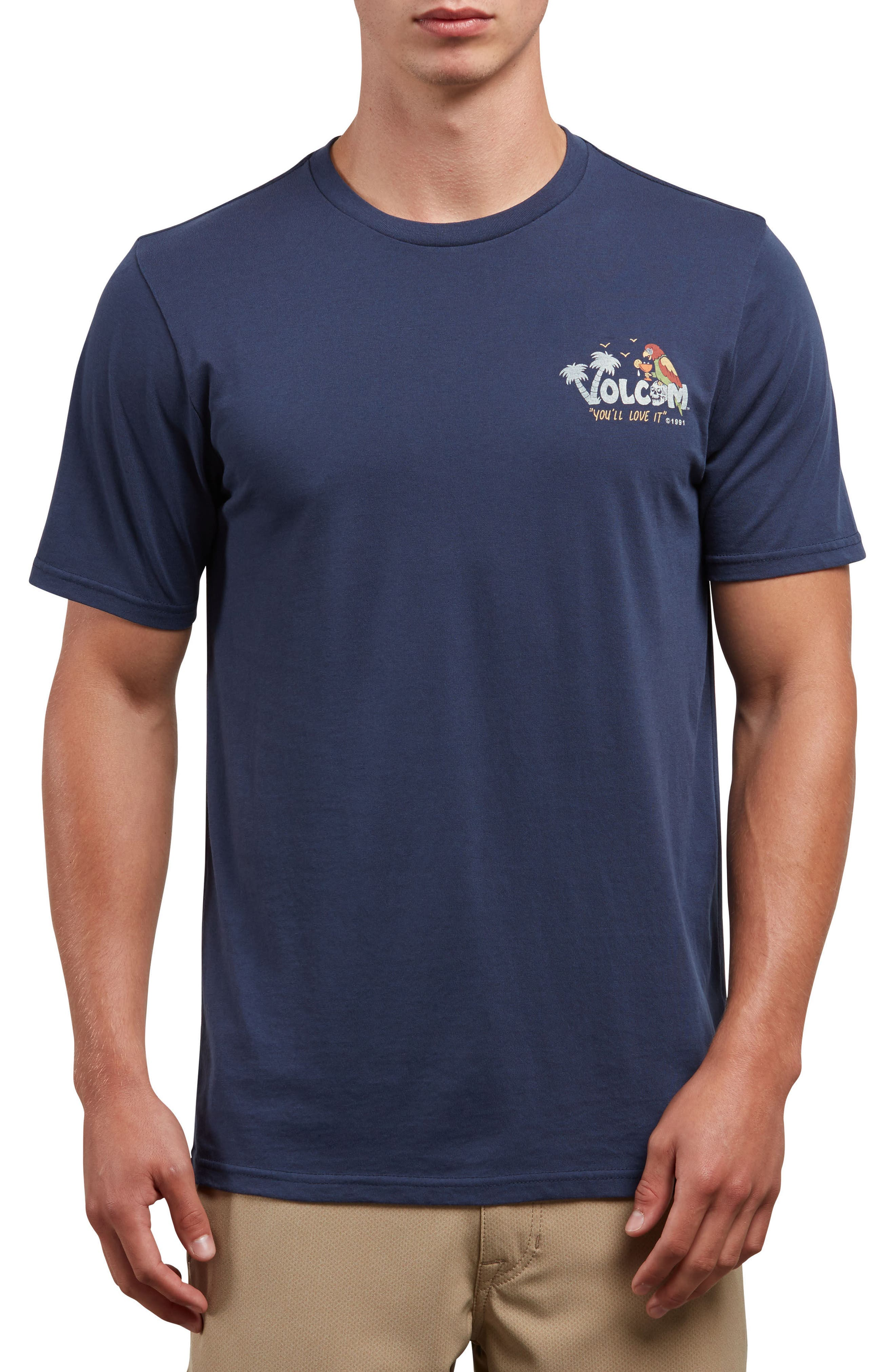 El Loro Loco T-Shirt,                         Main,                         color, NAVY