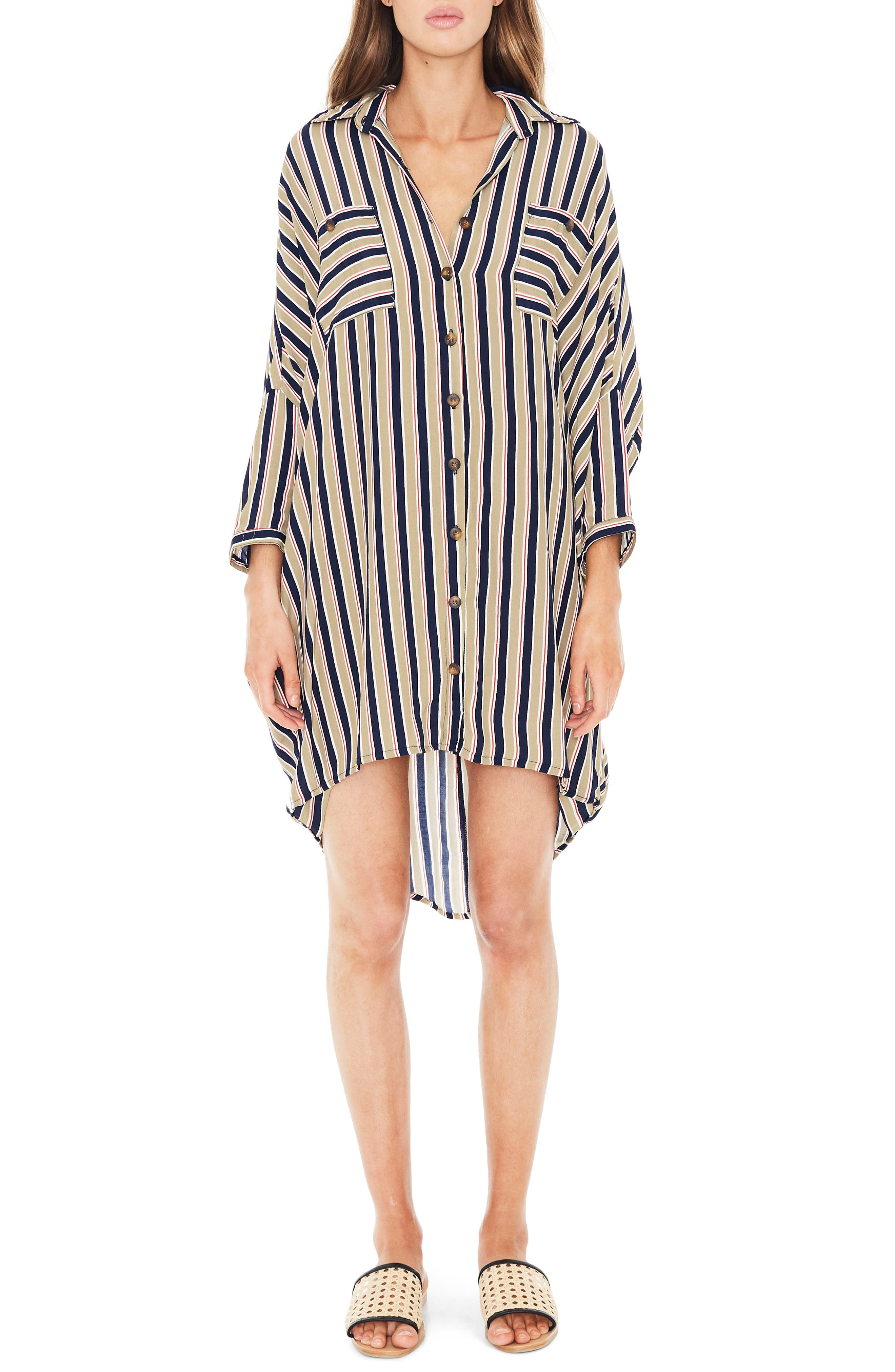 Spencer Stripe Shirtdress,                         Main,                         color, TRENTINI STRIPE PRINT