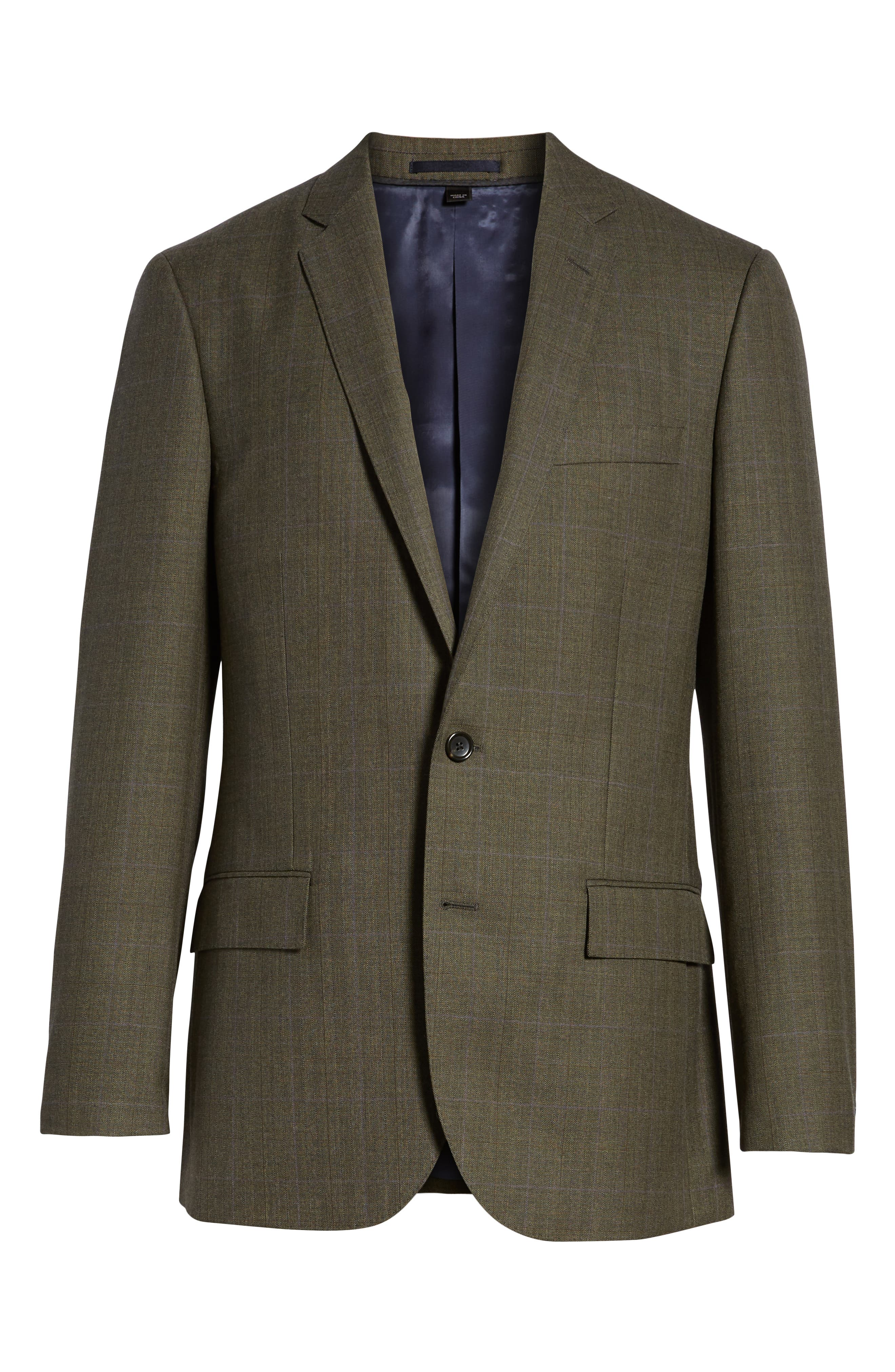 Ludlow Trim Fit Herringbone Wool Sport Coat,                             Alternate thumbnail 5, color,                             301