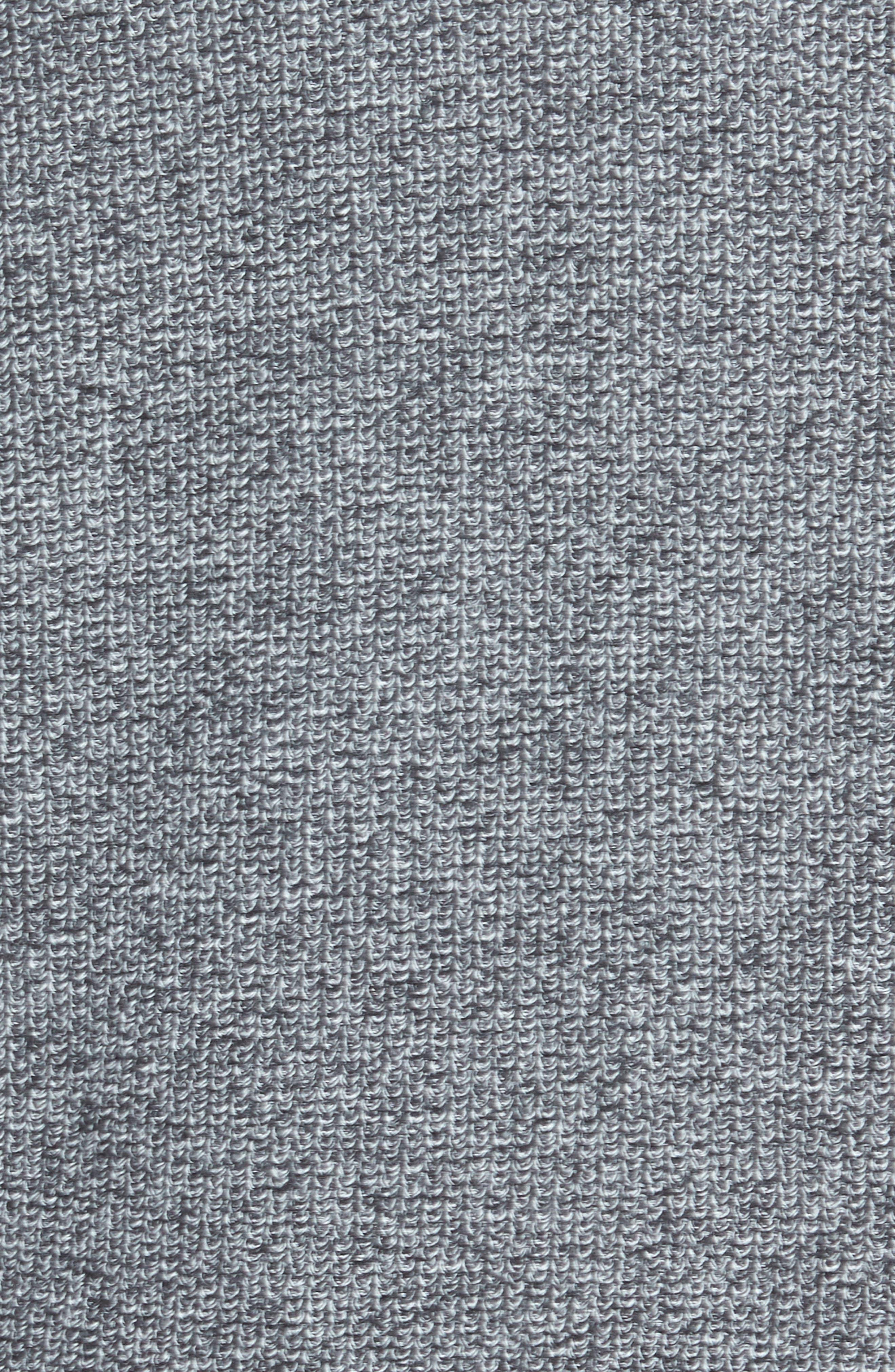 Marled Mock Neck Zip Sweater,                             Alternate thumbnail 5, color,                             BLACK IVORY MARL
