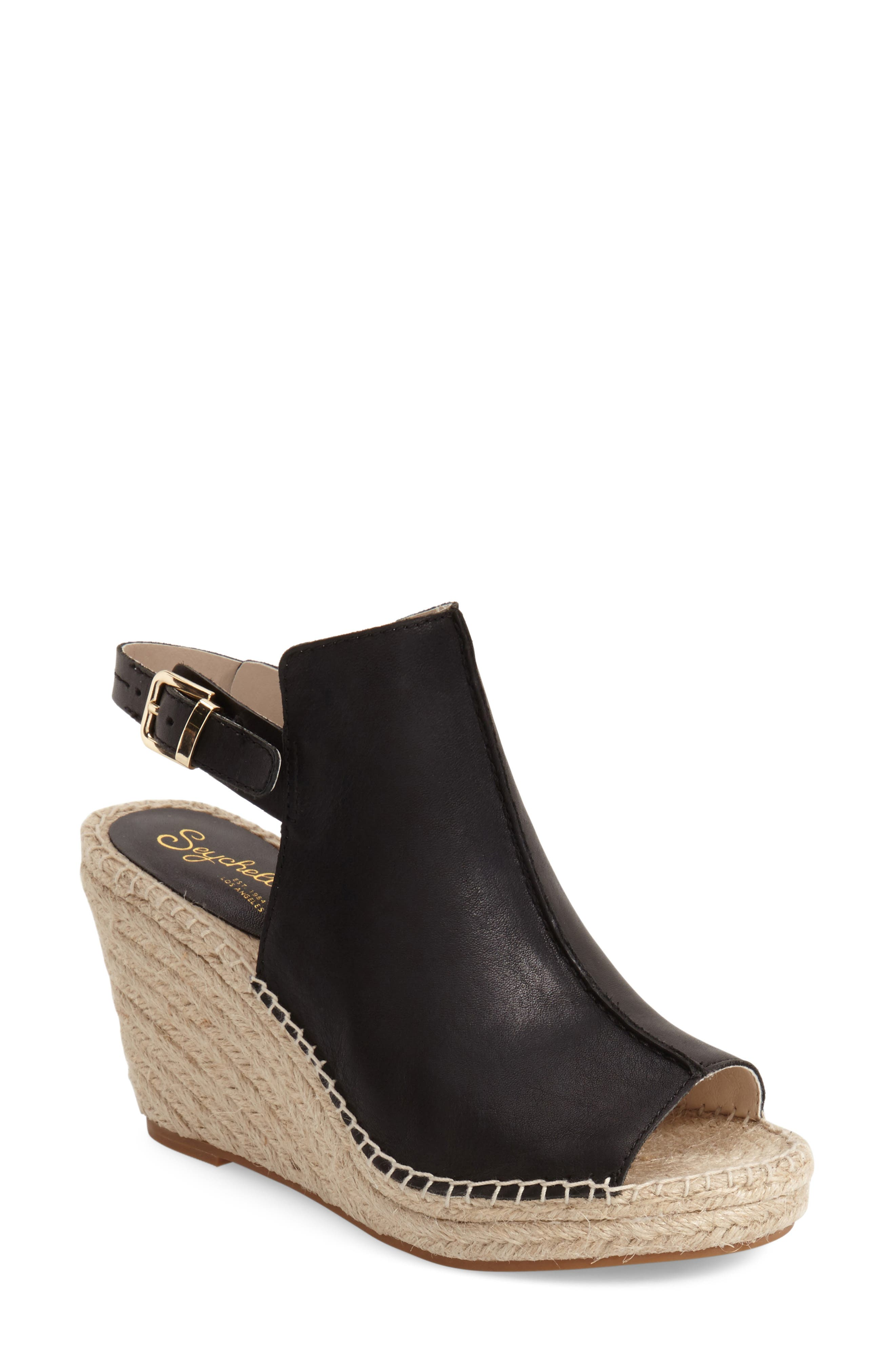 'Charismatic' Espadrille Wedge,                             Alternate thumbnail 3, color,                             001