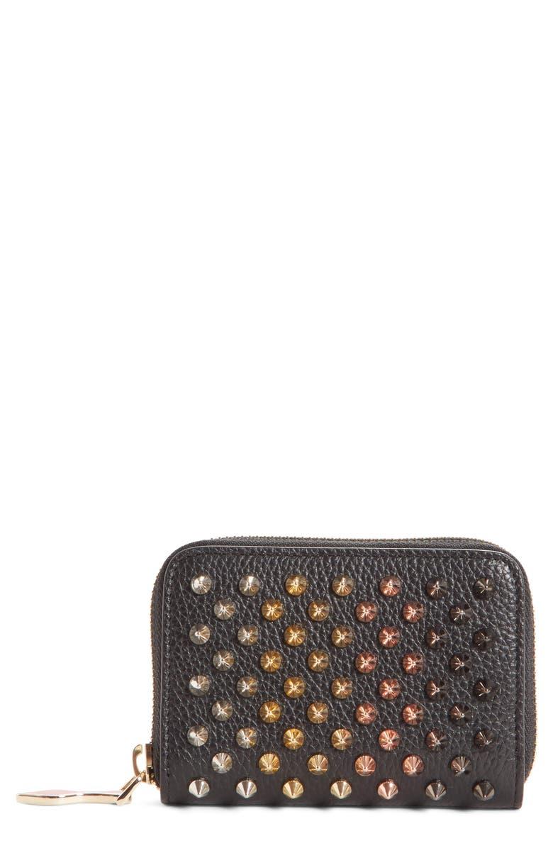 4952b3d968 CHRISTIAN LOUBOUTIN Panettone Leather Coin Purse, Main, color, 001