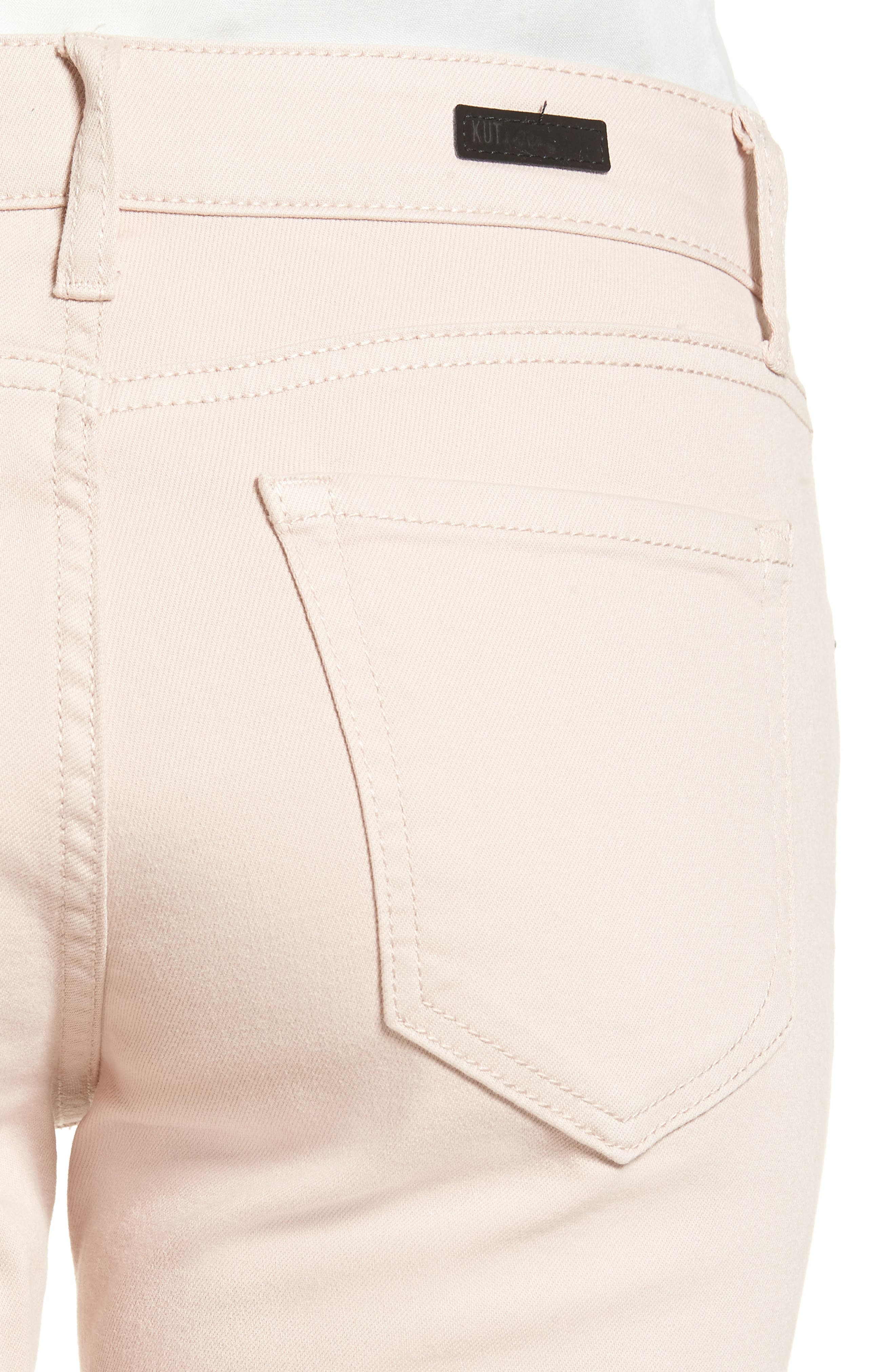 Amy Stretch Slim Crop Jeans,                             Alternate thumbnail 4, color,                             654