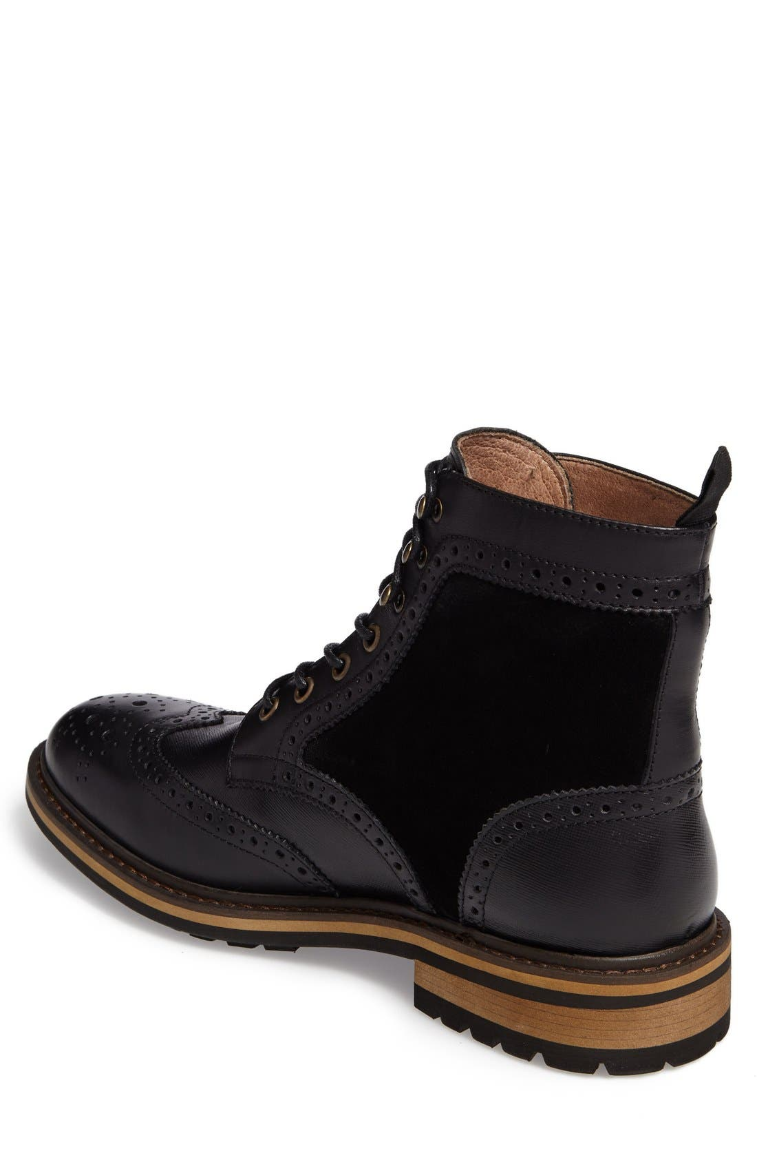 Grange Wingtip Boot,                             Alternate thumbnail 7, color,                             001
