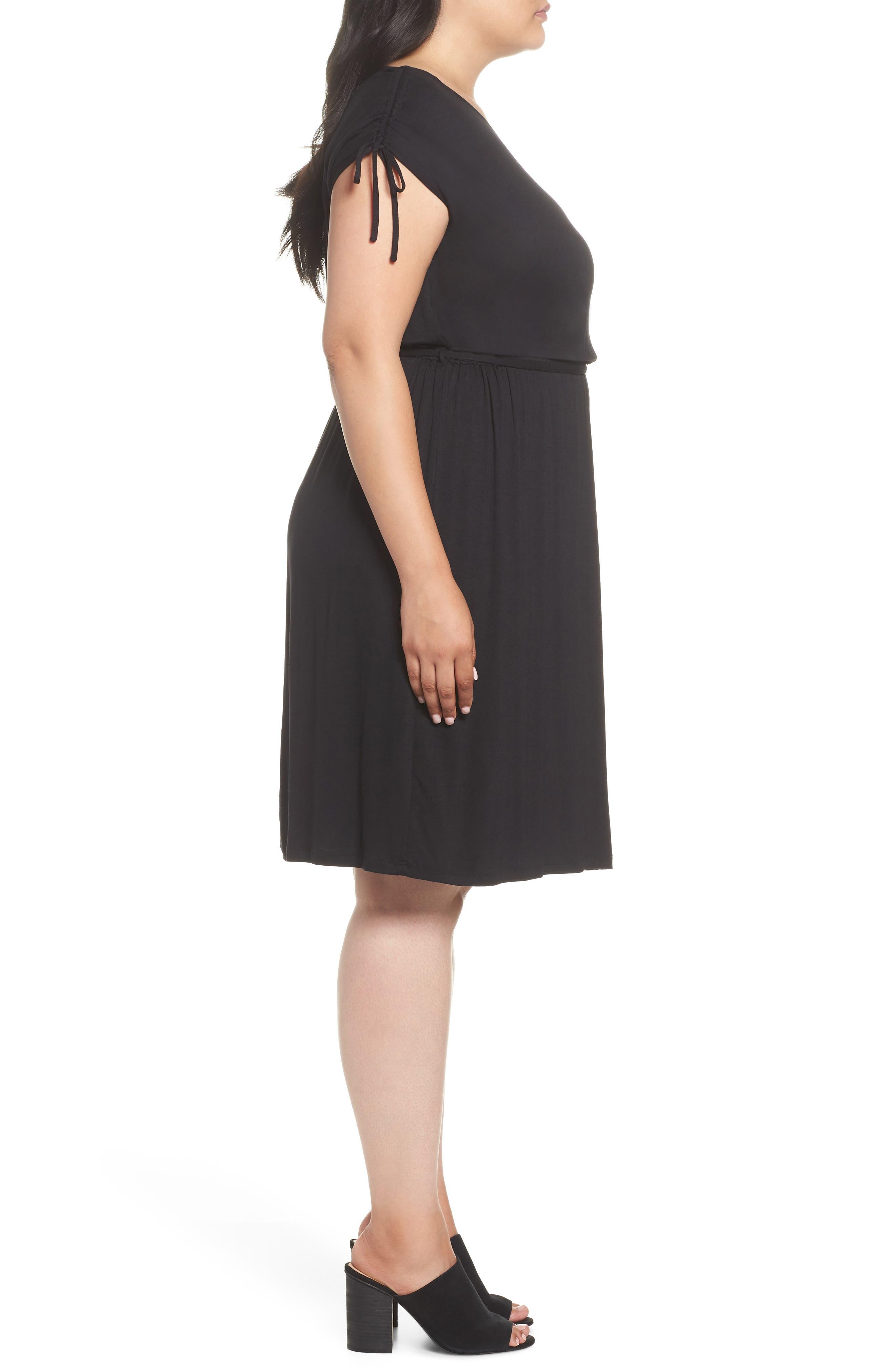 Stretch Jersey Midi Dress,                             Alternate thumbnail 3, color,