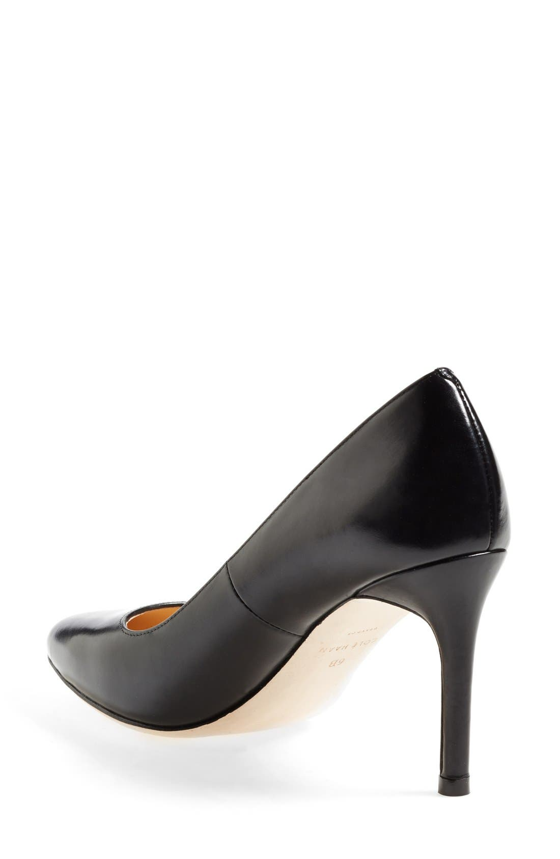 COLE HAAN,                             'Bethany' Leather Pump,                             Alternate thumbnail 4, color,                             001