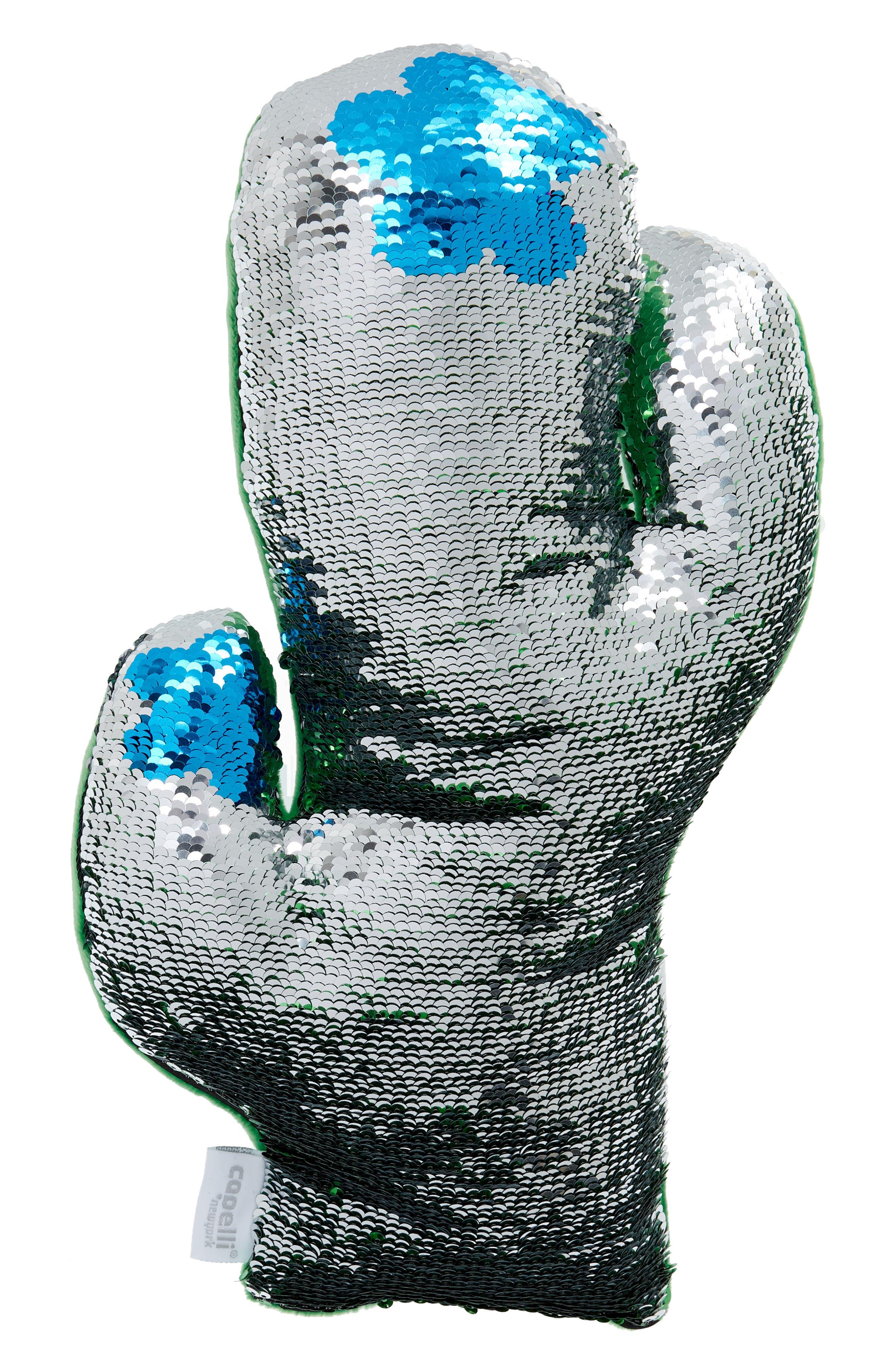 Flip Sequin Cactus Pillow,                             Alternate thumbnail 4, color,                             300