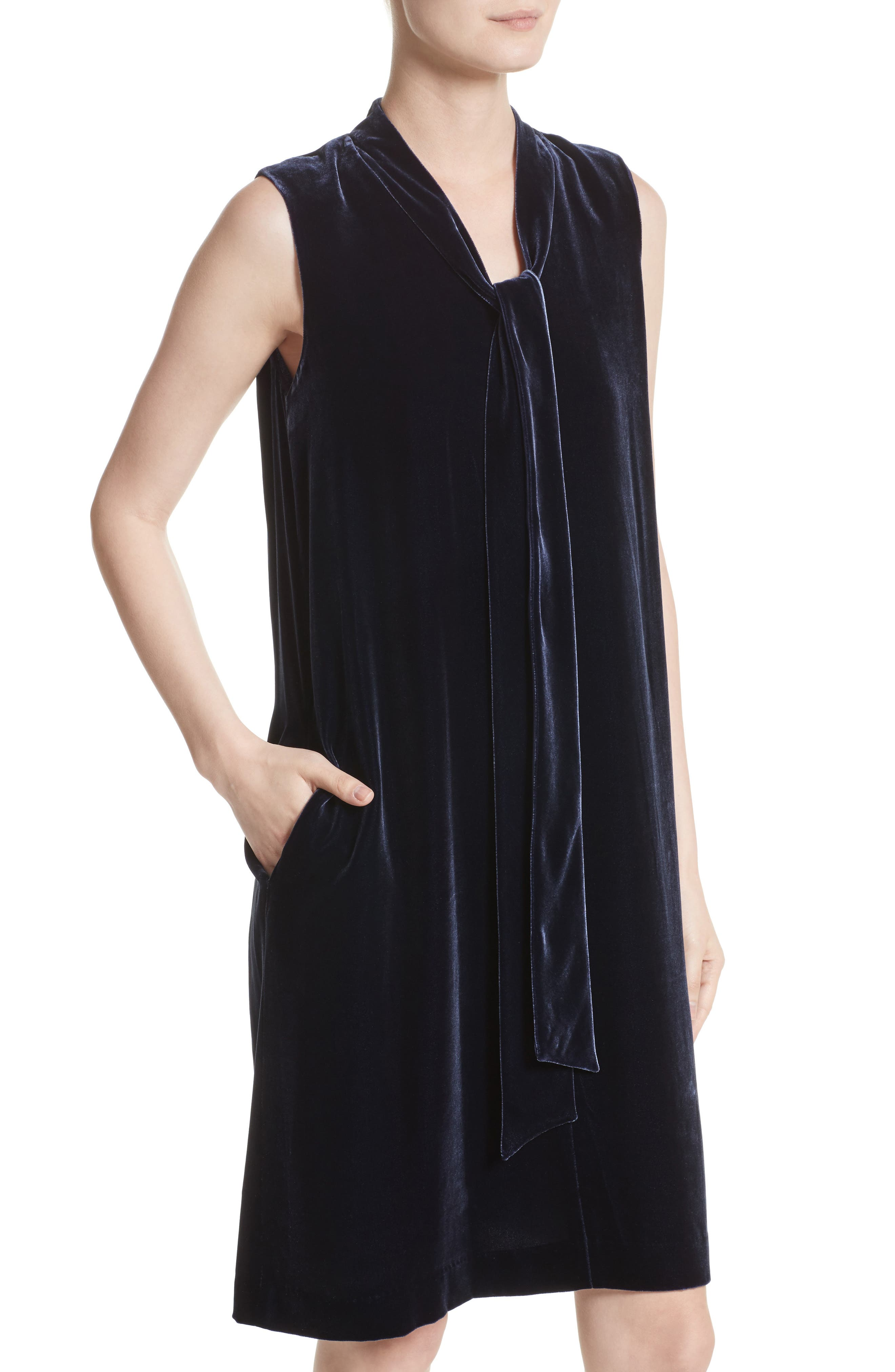 Ronan Velvet Dress,                             Alternate thumbnail 8, color,
