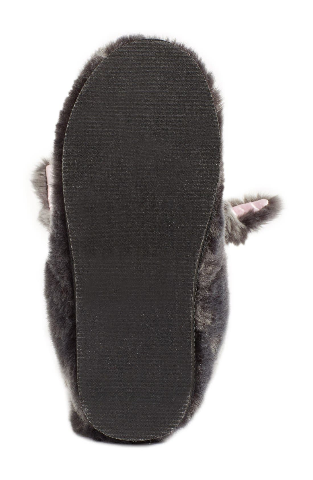 KATE SPADE NEW YORK,                             'bethie' faux fur bunny slipper,                             Alternate thumbnail 3, color,                             034