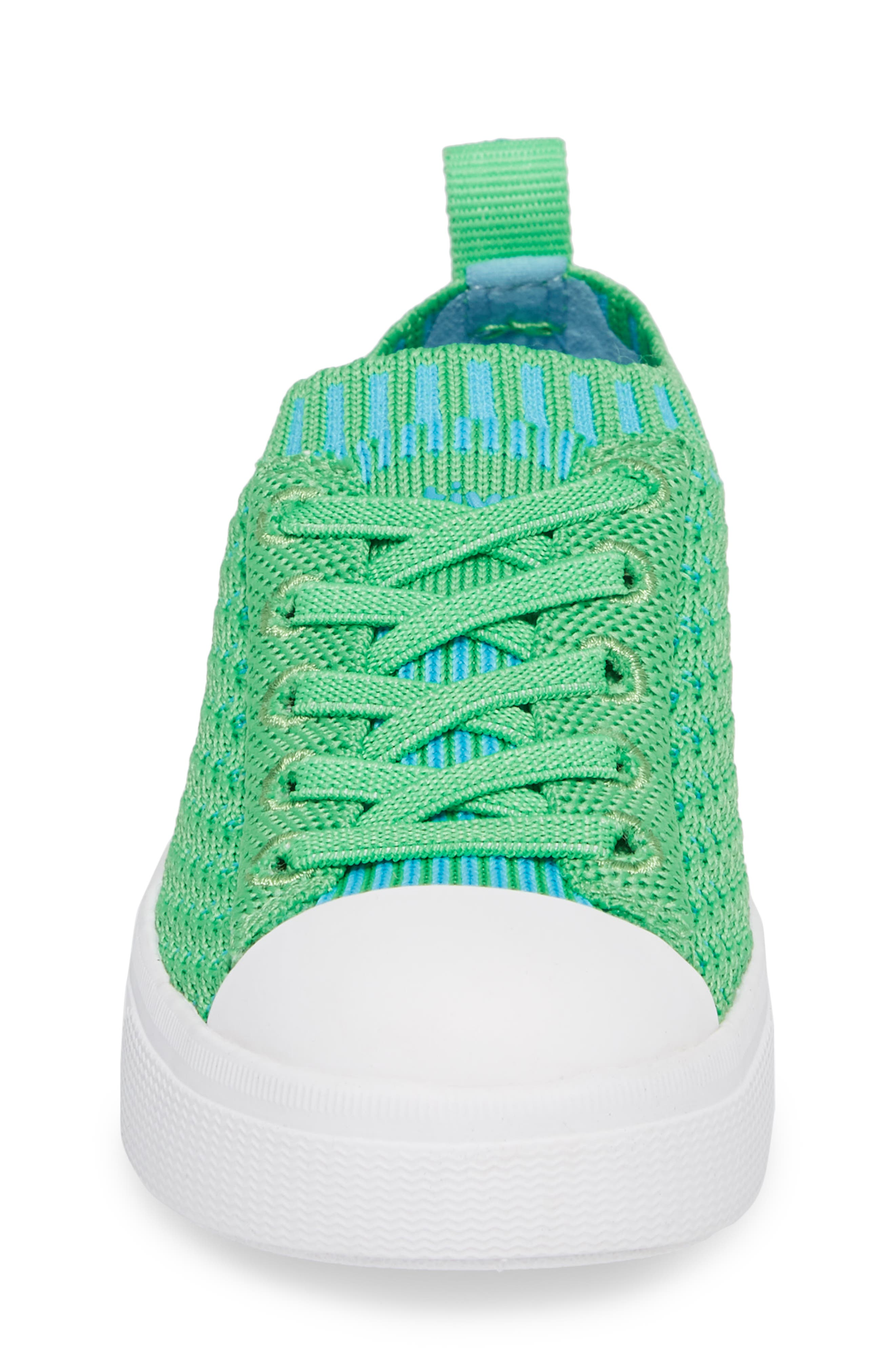 Native Jefferson 2.0 LiteKnit Sneaker,                             Alternate thumbnail 4, color,                             GRASS GREEN/ SHELL WHITE