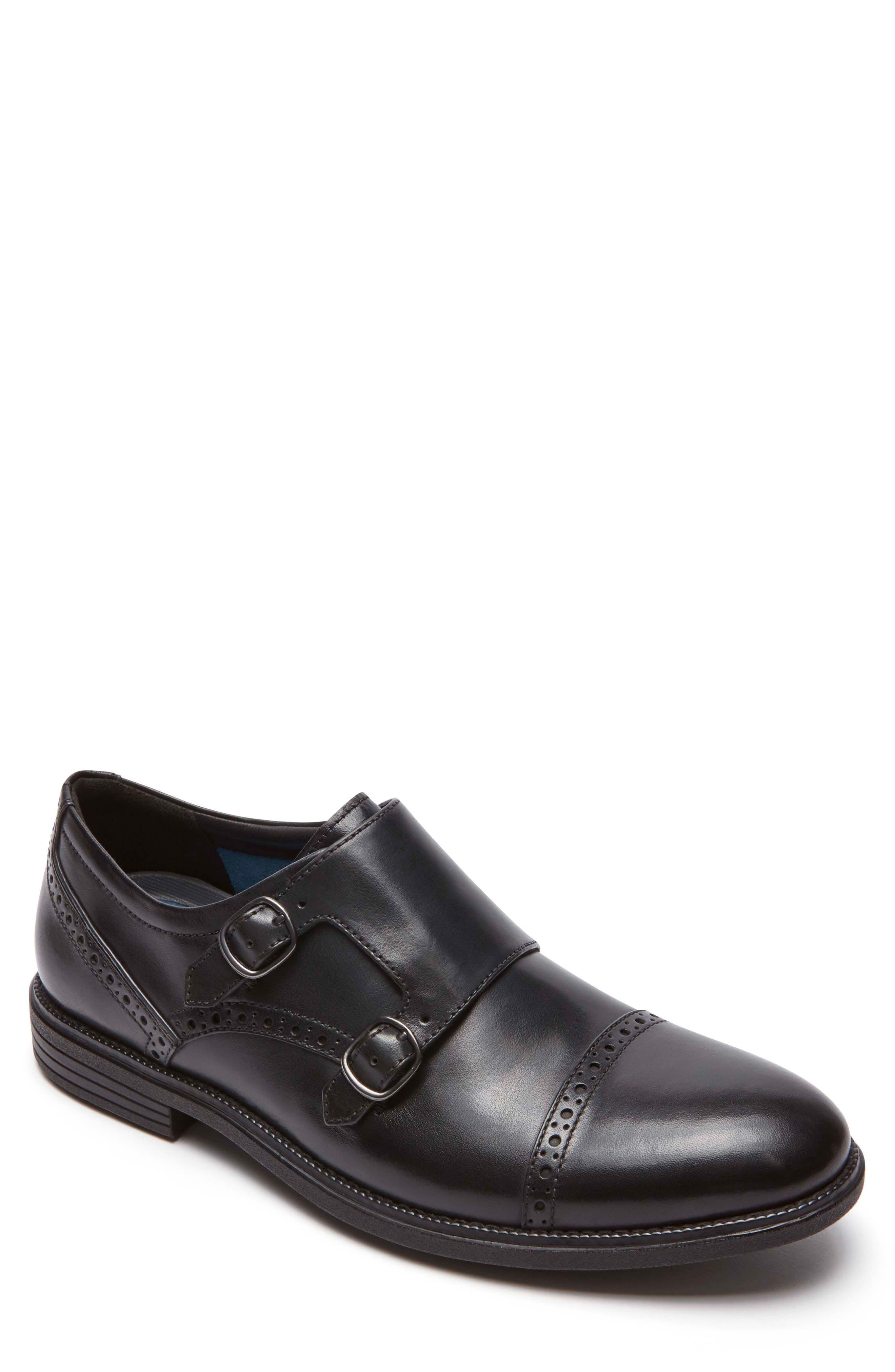 Madson Double Monk Strap Shoe,                         Main,                         color, 001