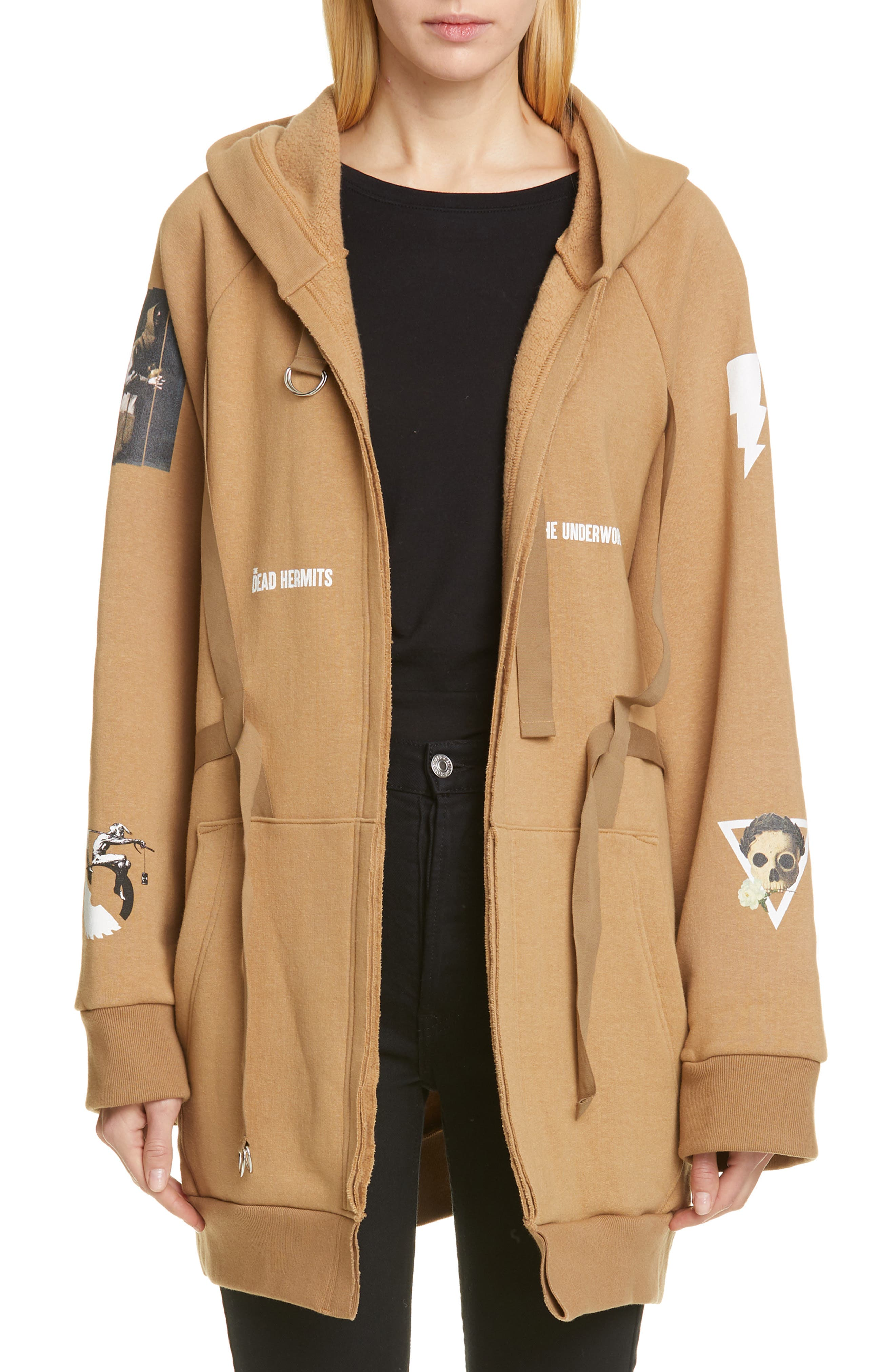 Oversized Hoodie,                             Main thumbnail 1, color,                             BEIGE